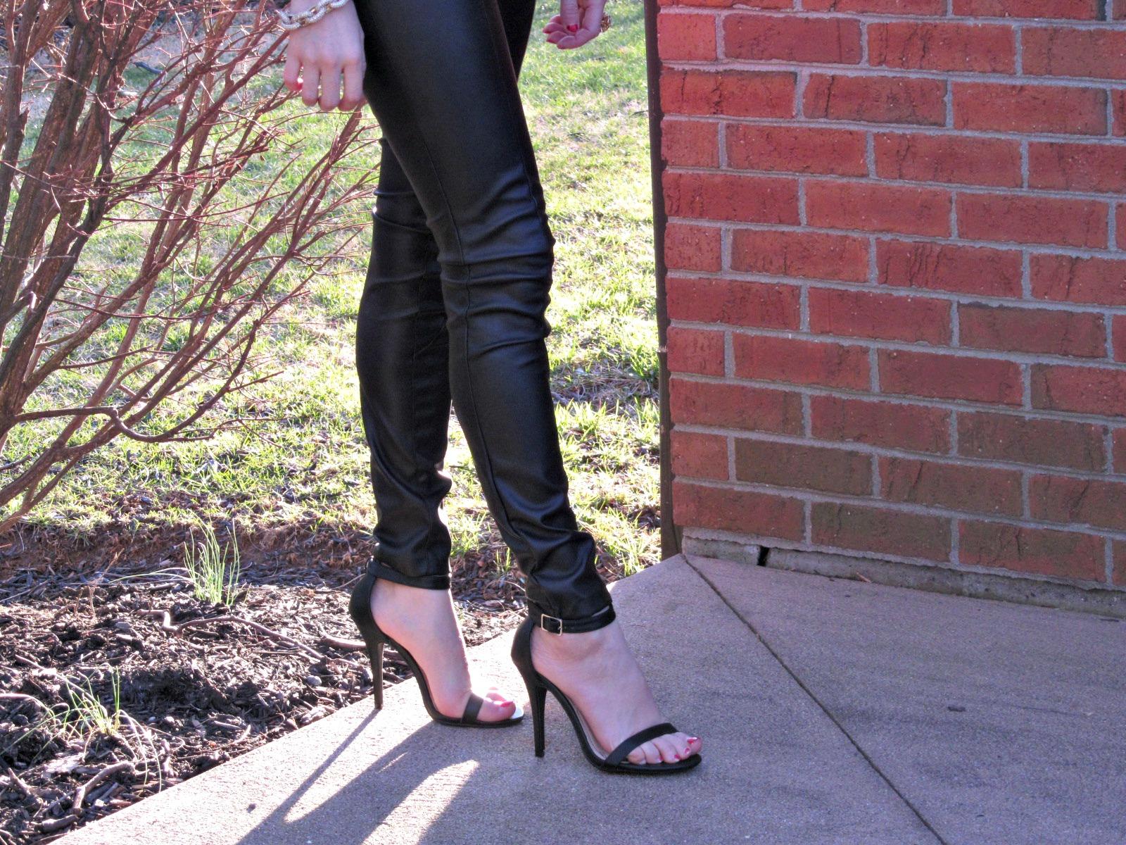 H&M leather pants