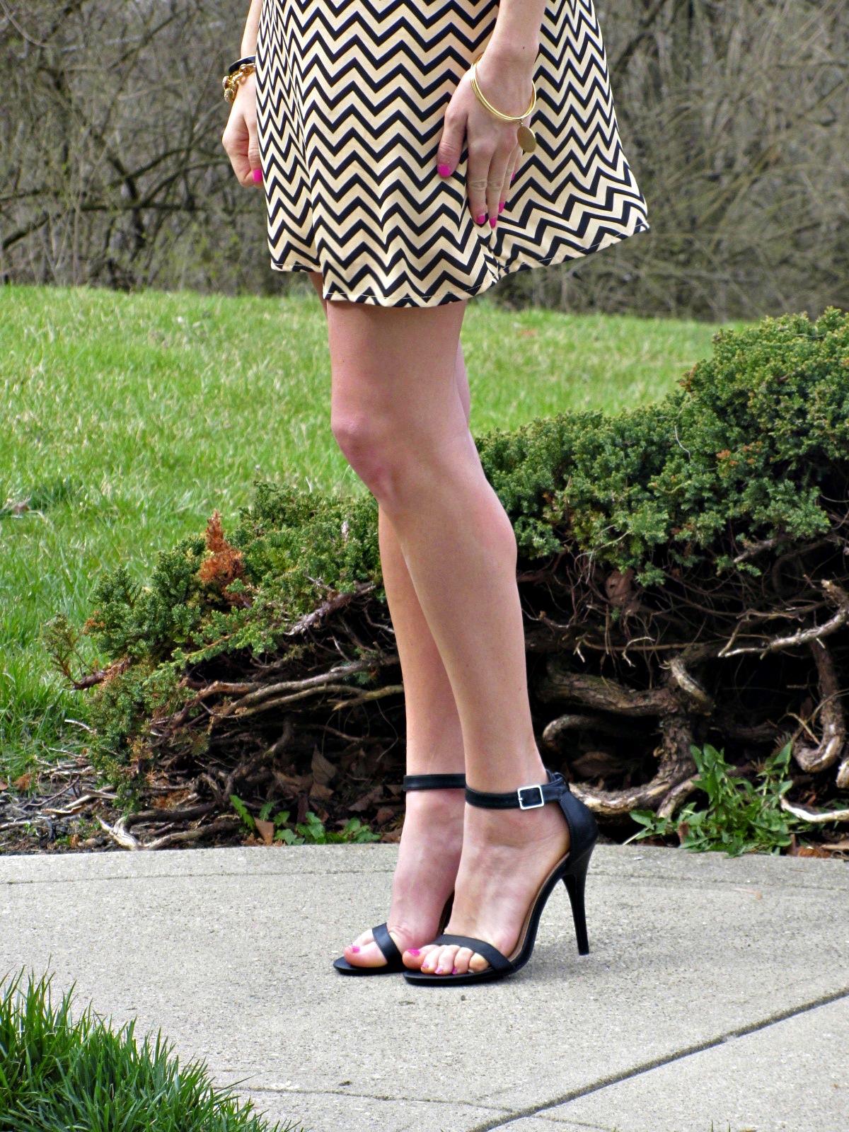 Lulu's Black Ankle Strap Heels