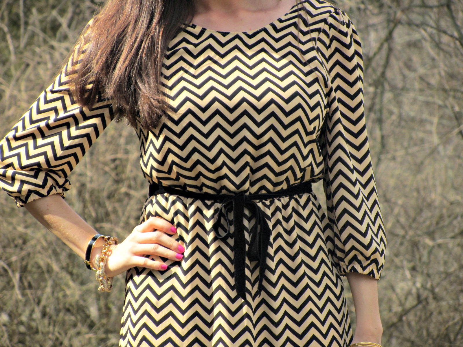 Dillard's Sugar Lips Chevron Dress