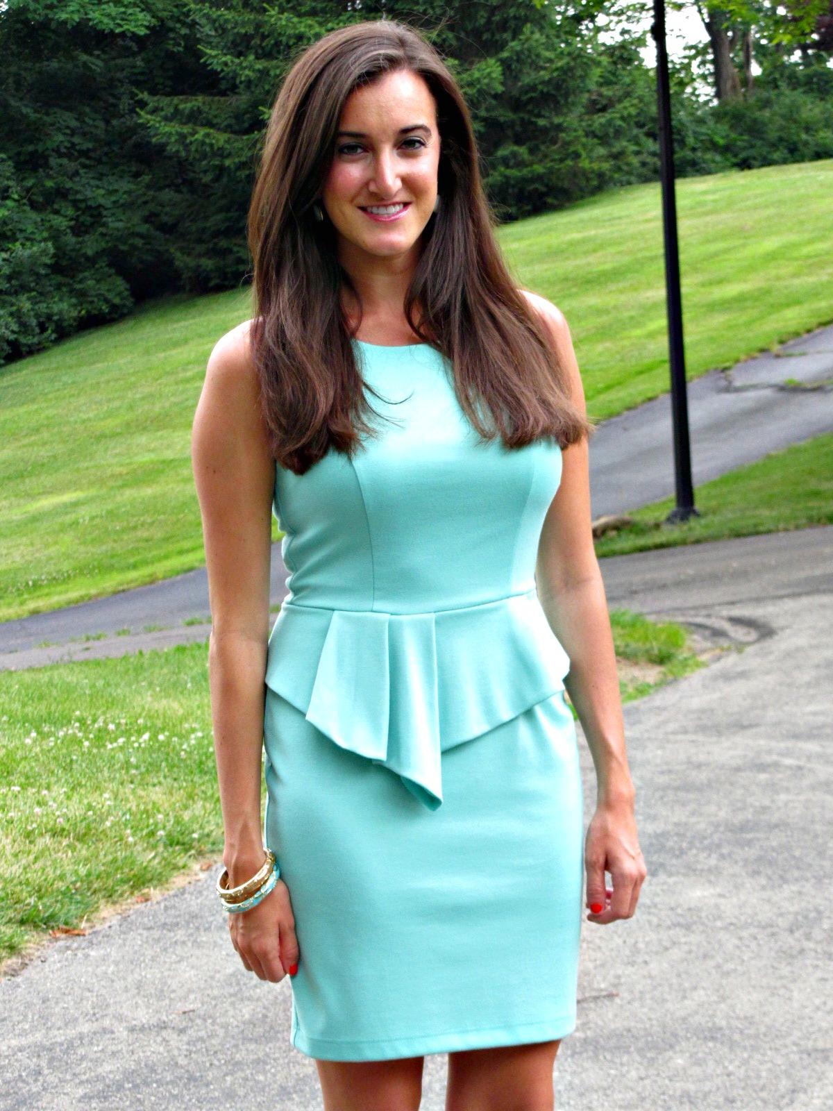 Bar iii dress, sleeveless high-neck peplum sheath