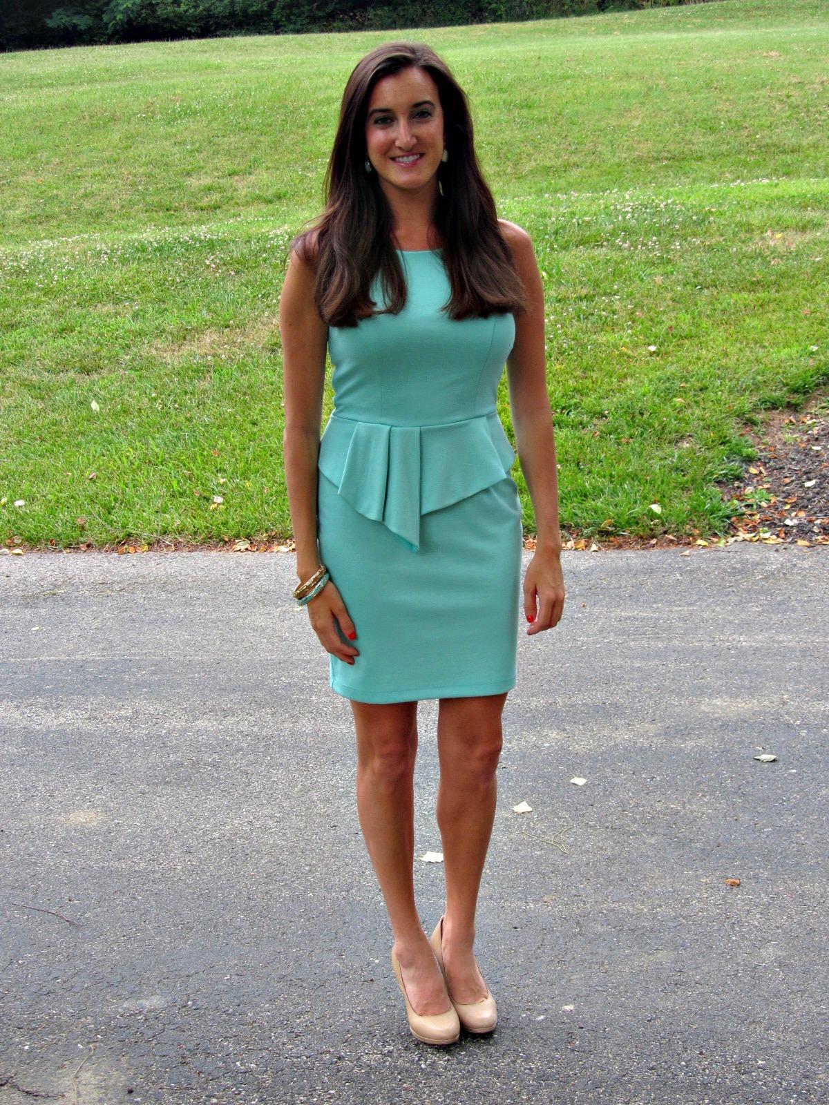 Bar III Mint Peplum Dress