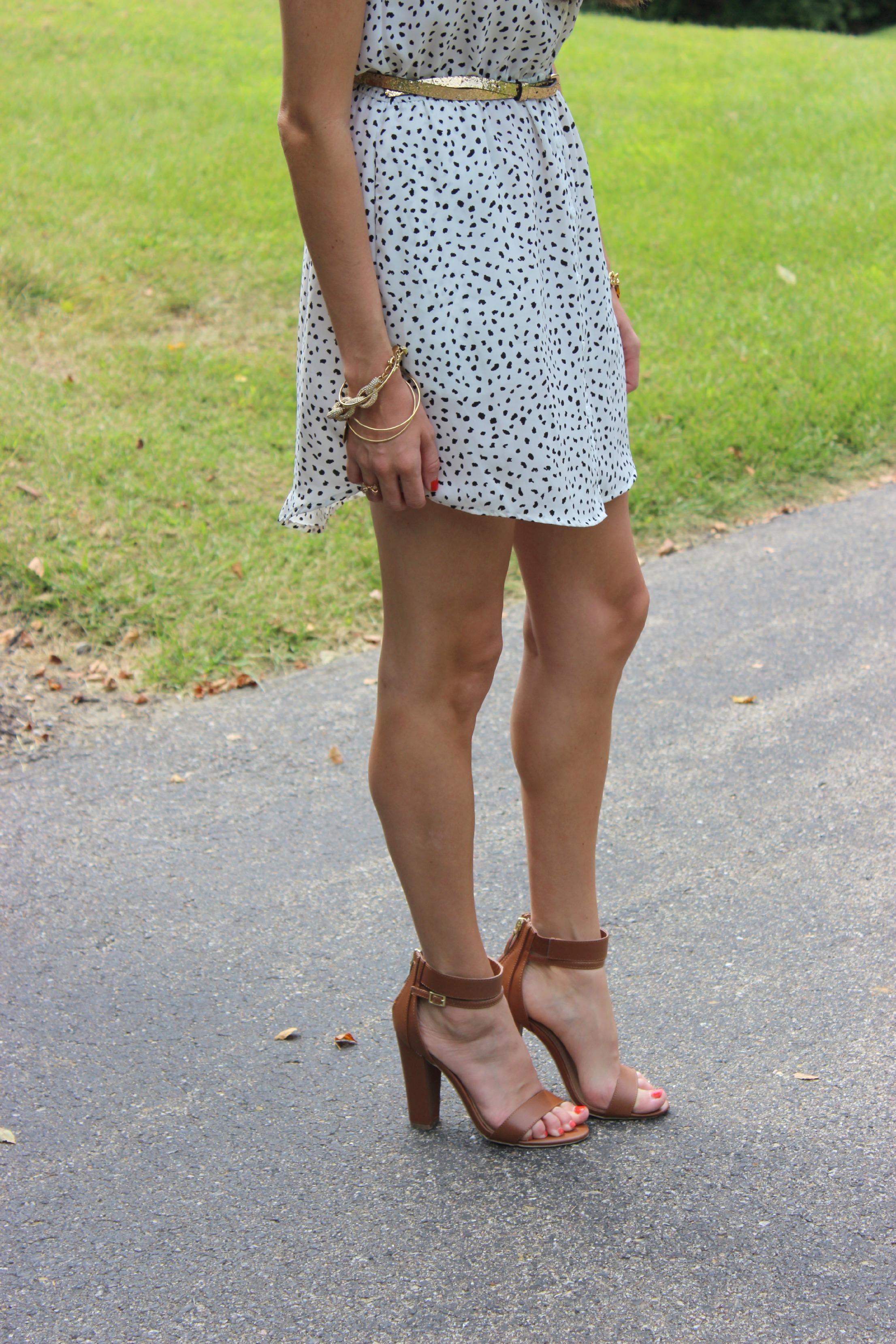 Lulu's Brown Ankle Strap Heels