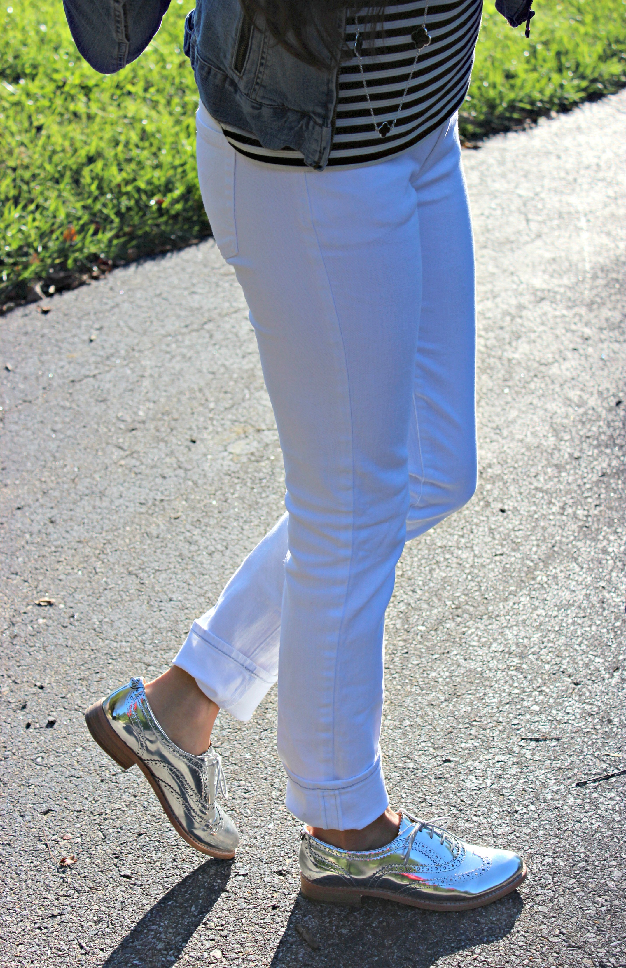 White Jeans and Oxfords