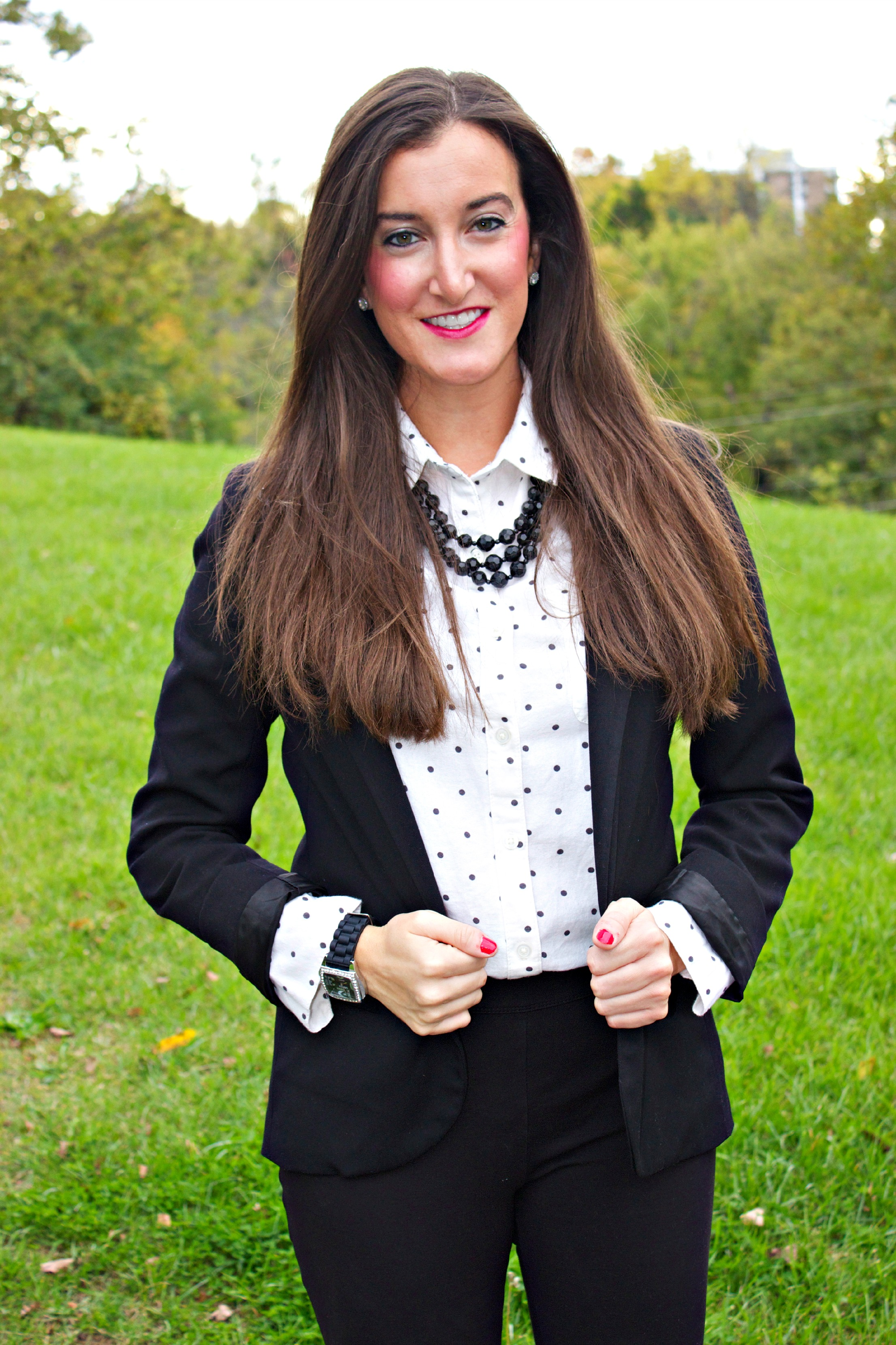 Preppy Black and White Outfit