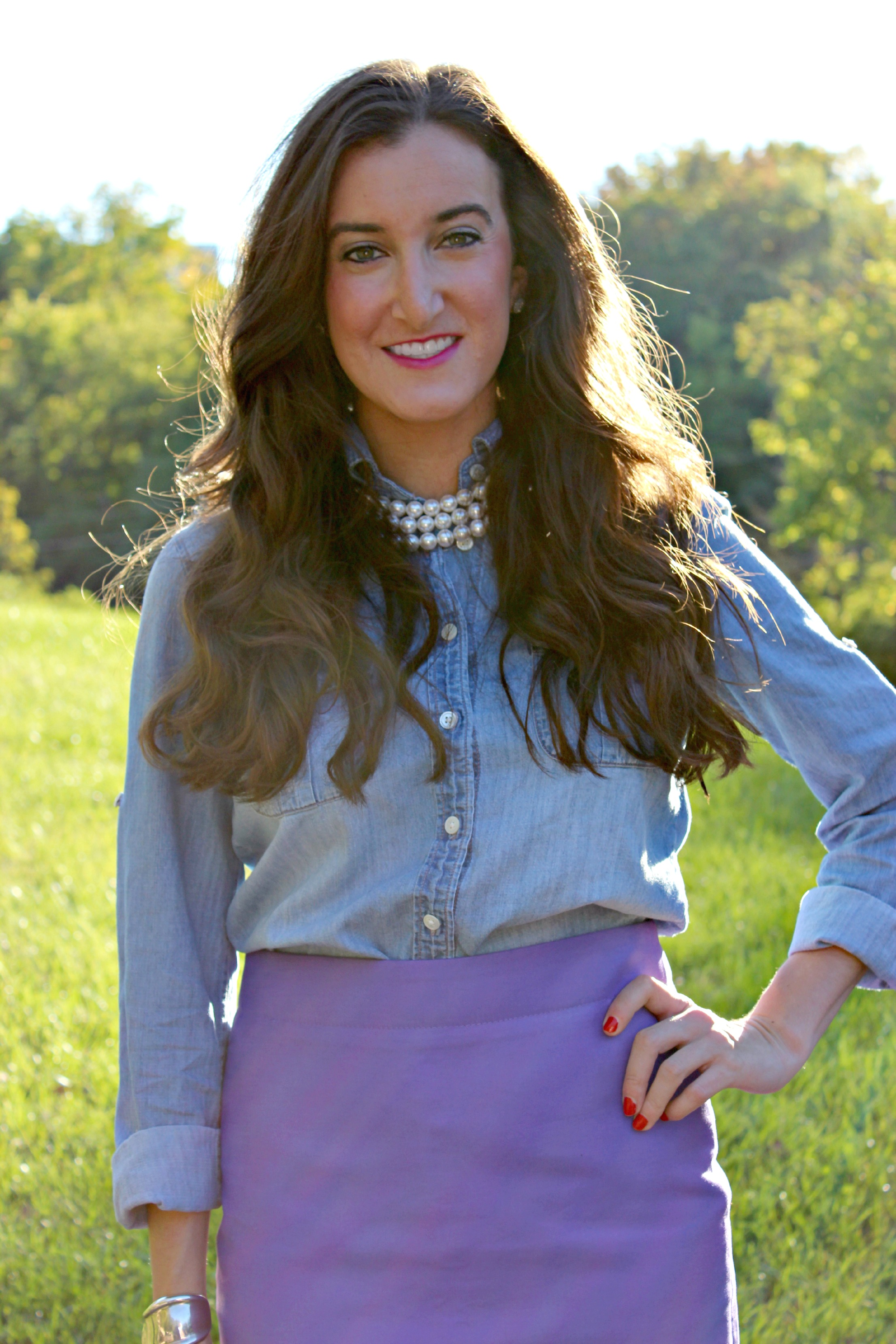 J.Crew Pencil Skirt, J.Crew Chambray