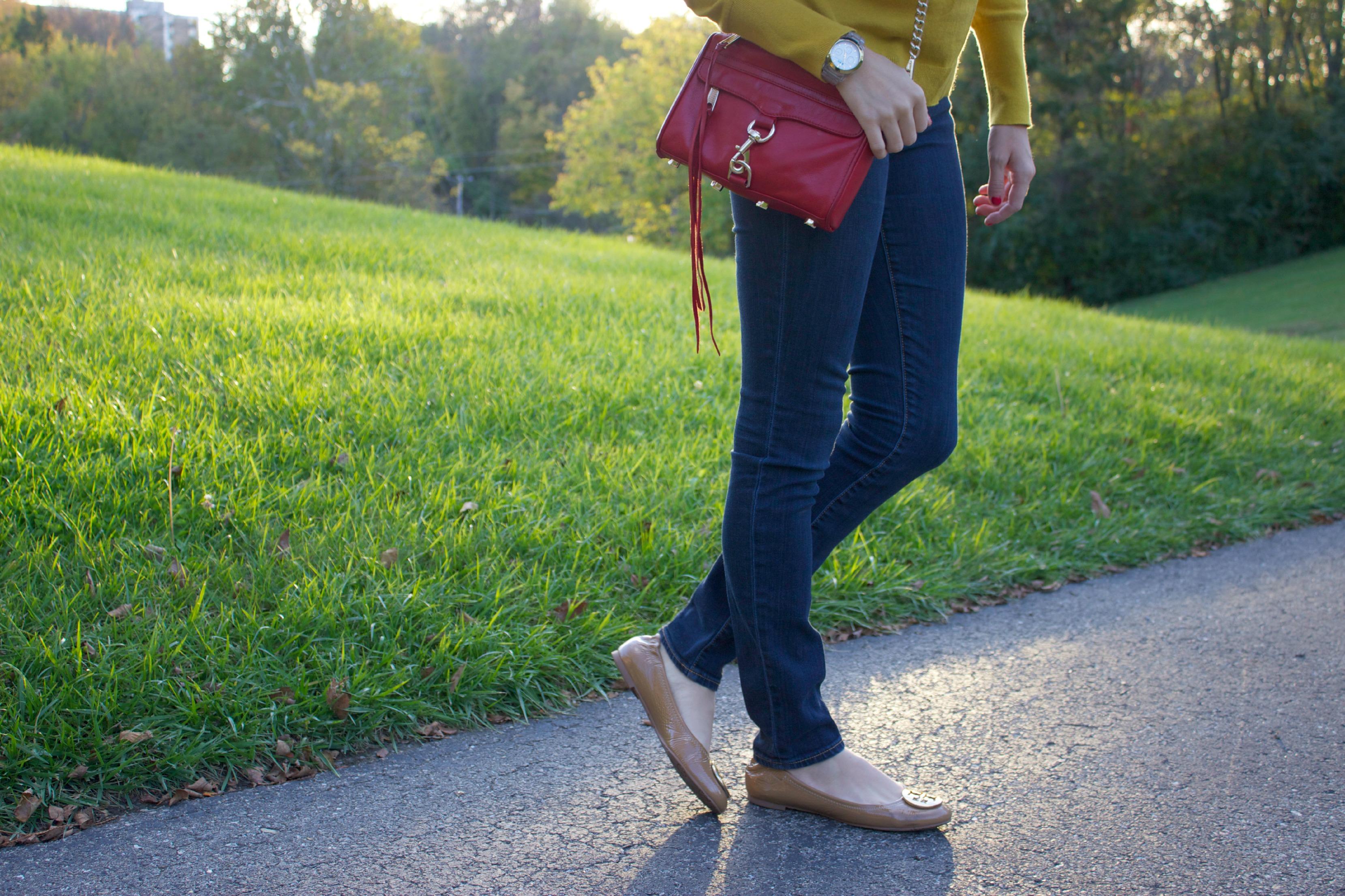 Gap Skinny Jeans, Tory Burch Reva Flats
