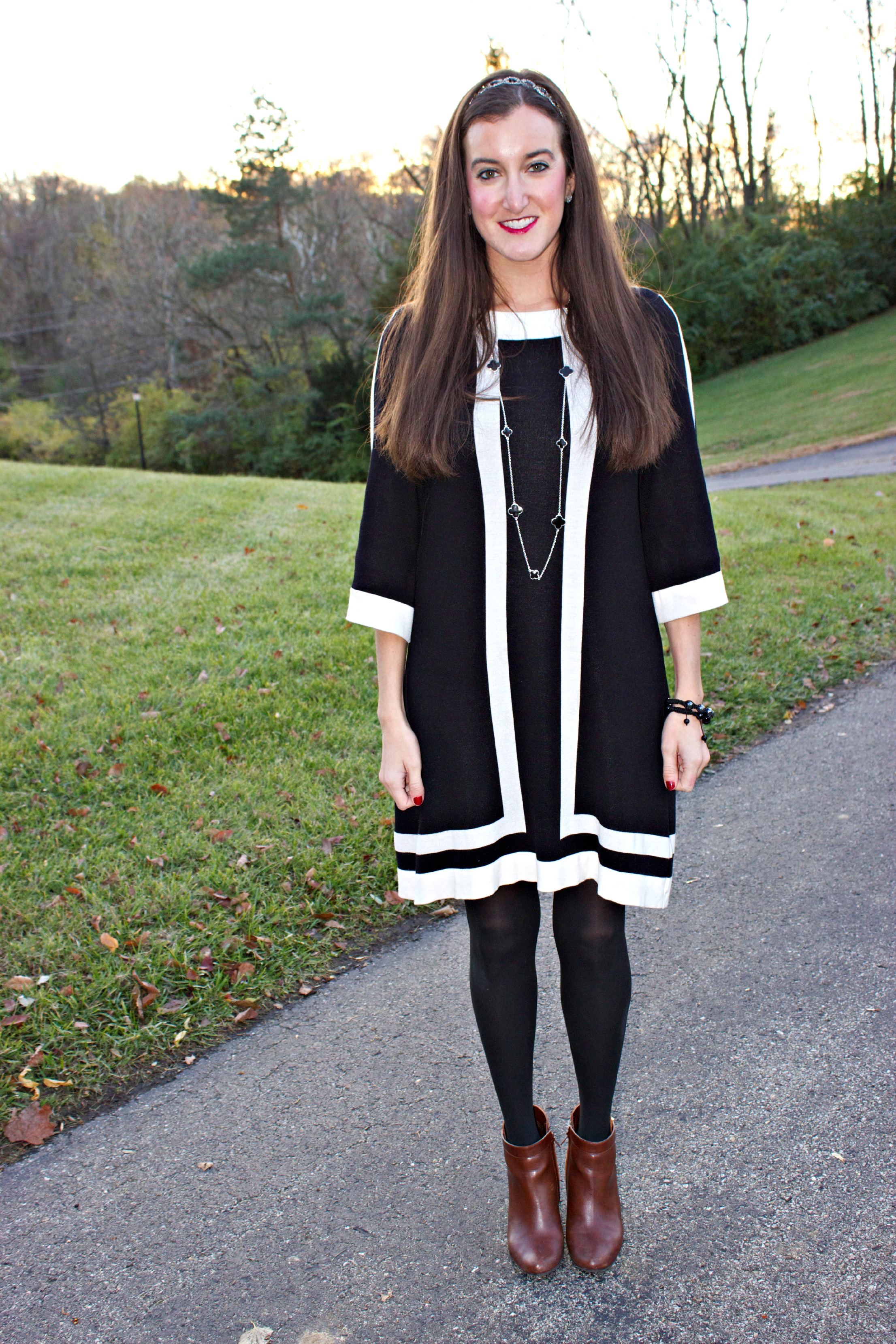 Sweater Dress Brown Booties
