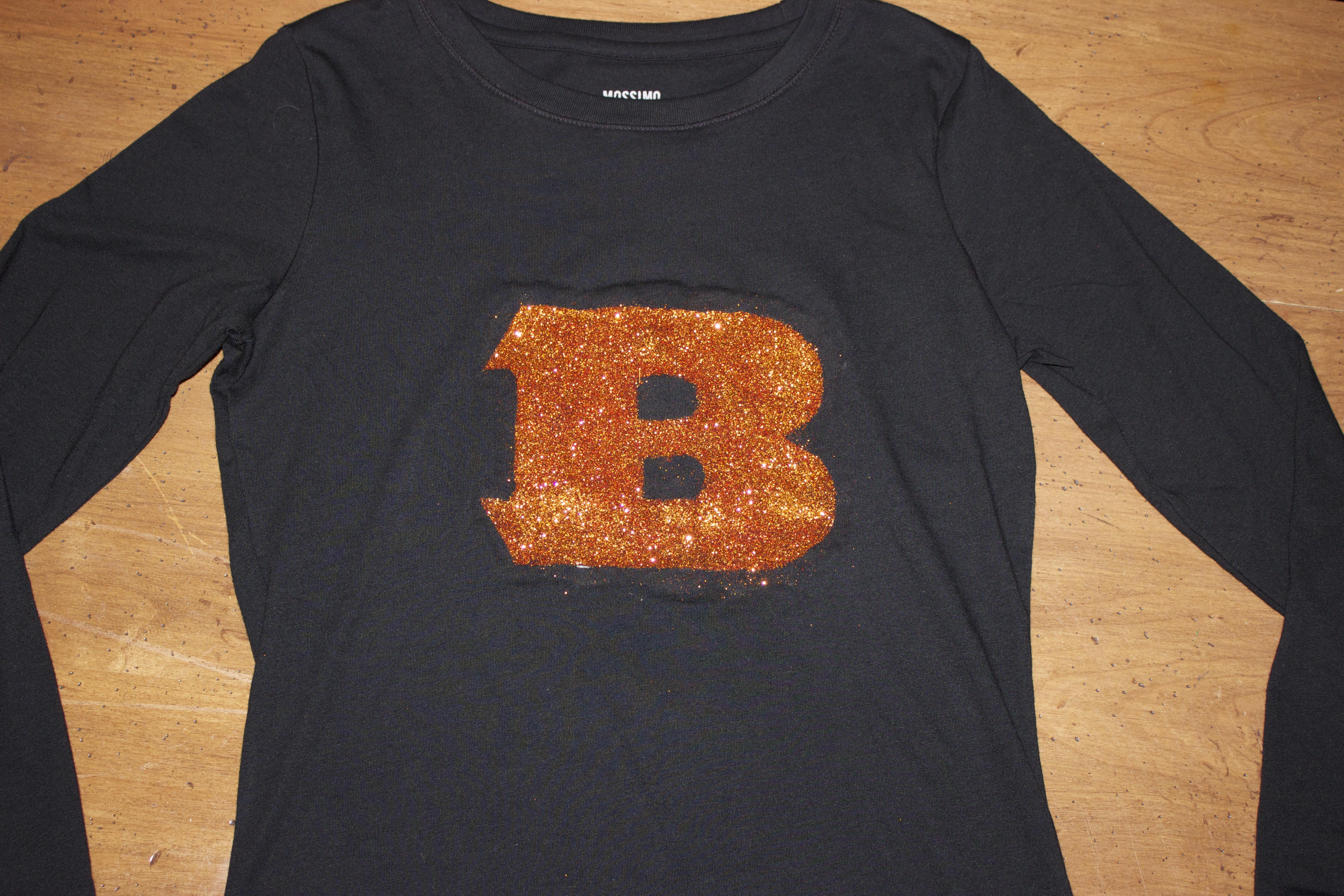 Cincinnati Bengals DIY Glitter Shirt