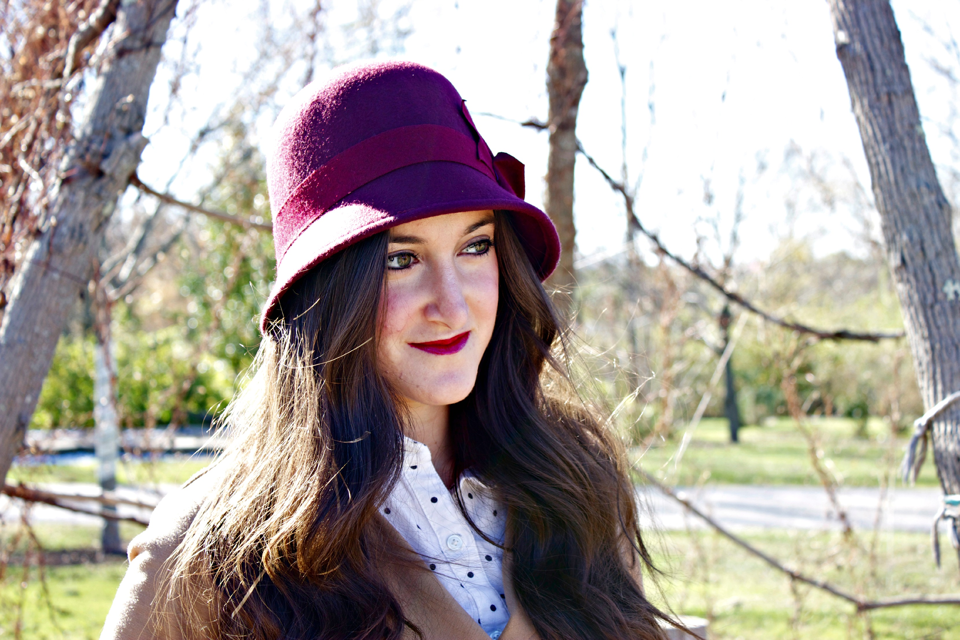 Red Cloche Nordstrom Hat