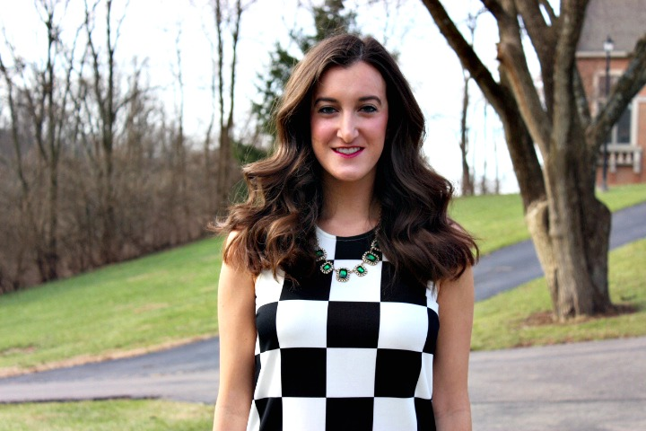 Black and White Checkered Dress