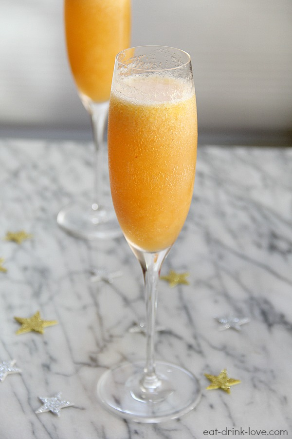 New Years Bellini Drink