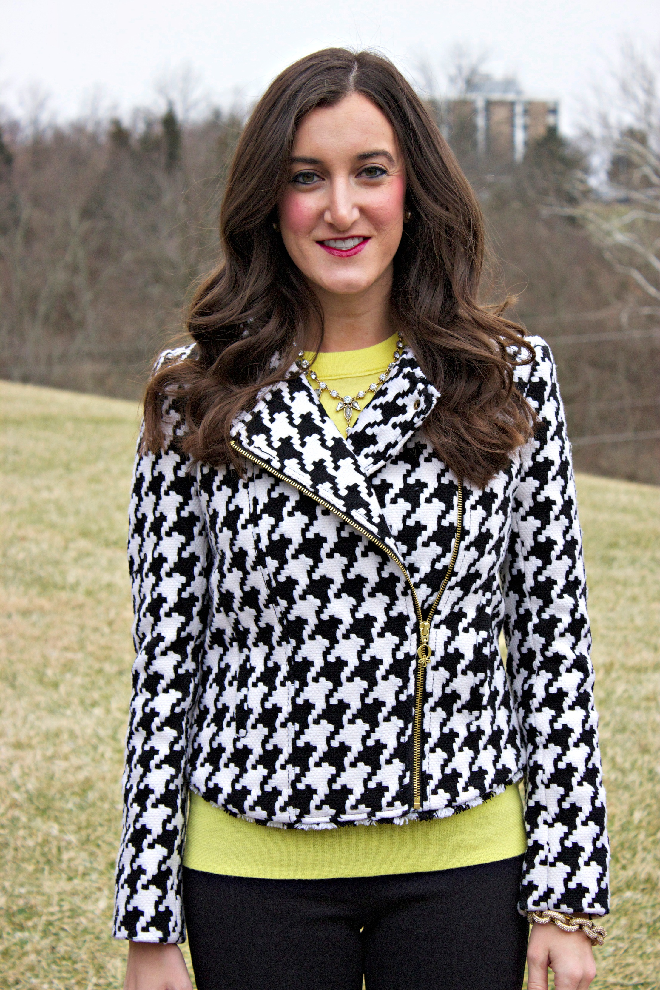 QMack Houndstooth Jacket