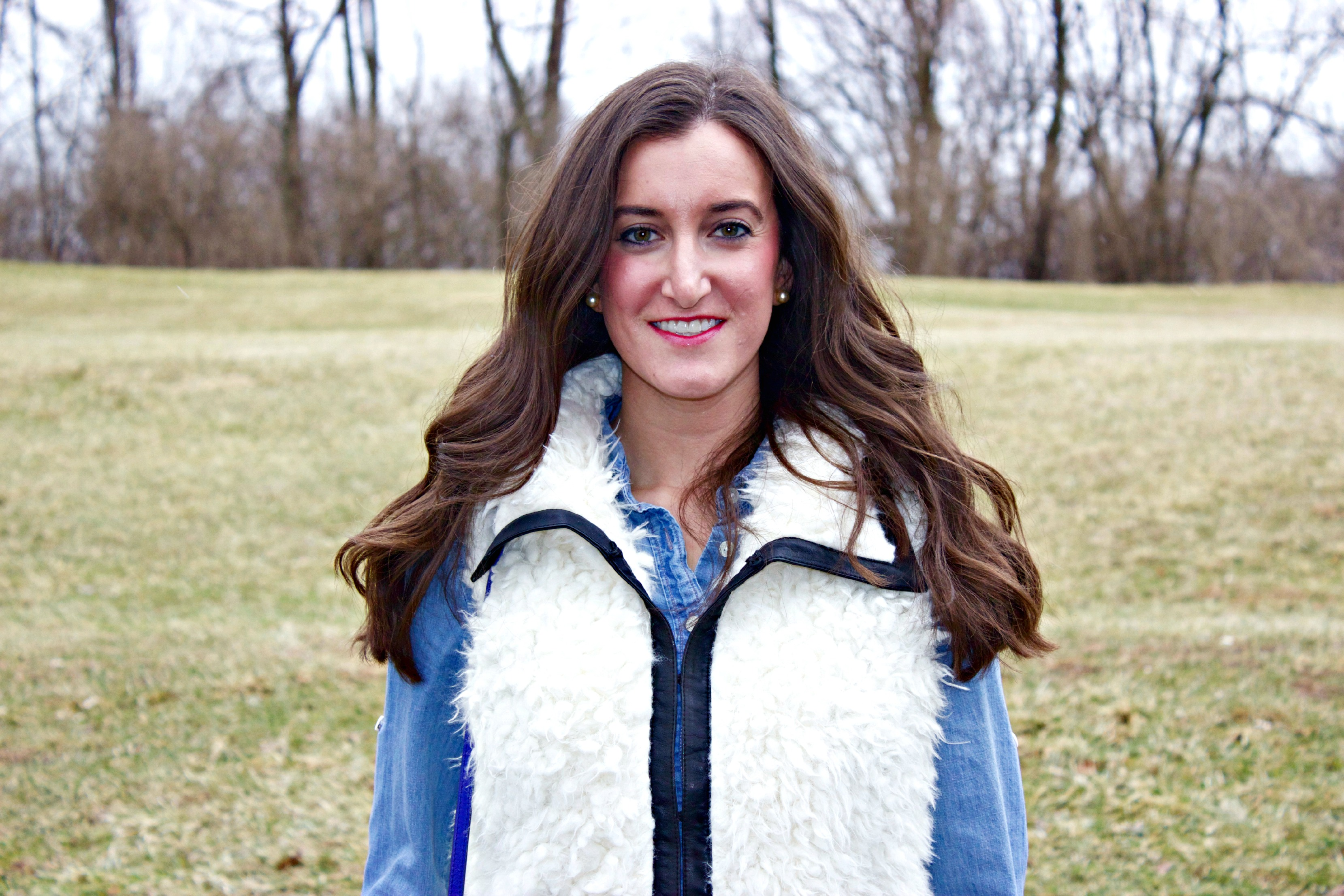 Faux Fur Lambswool Vest