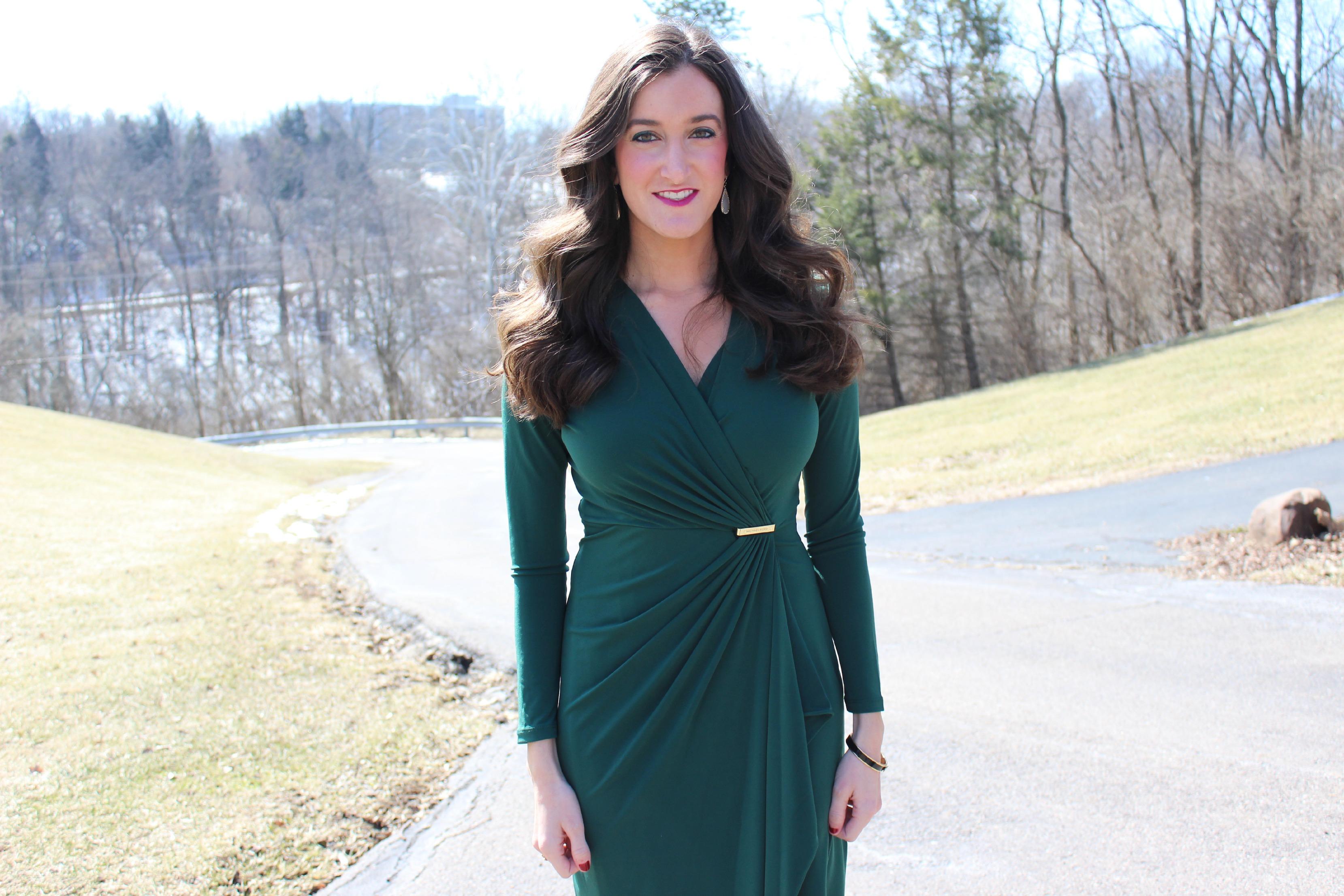 Hunter Green Michael Kors Dress
