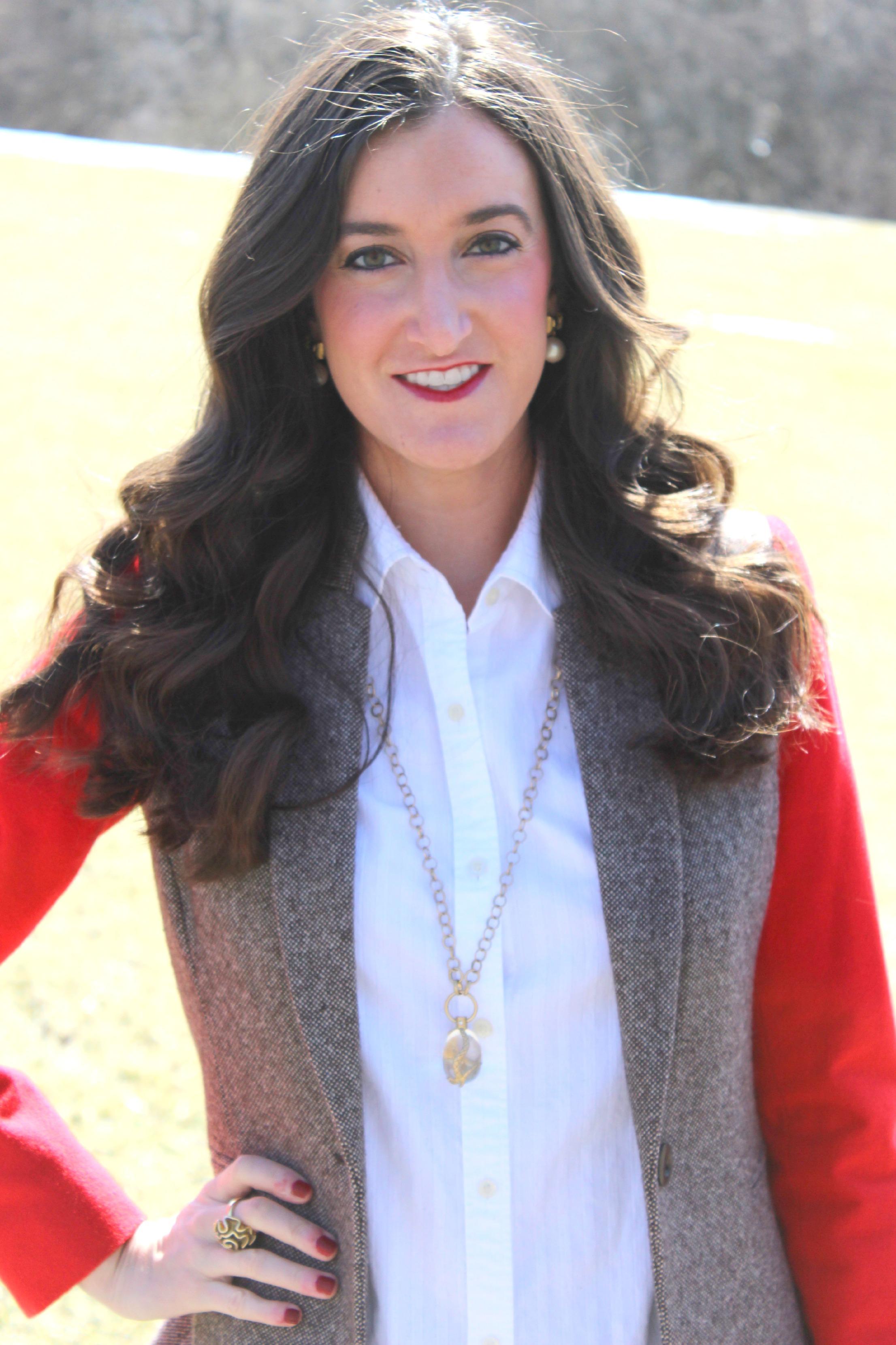 Ralph Lauren White Button Down with Cremieux Tweed Blazer