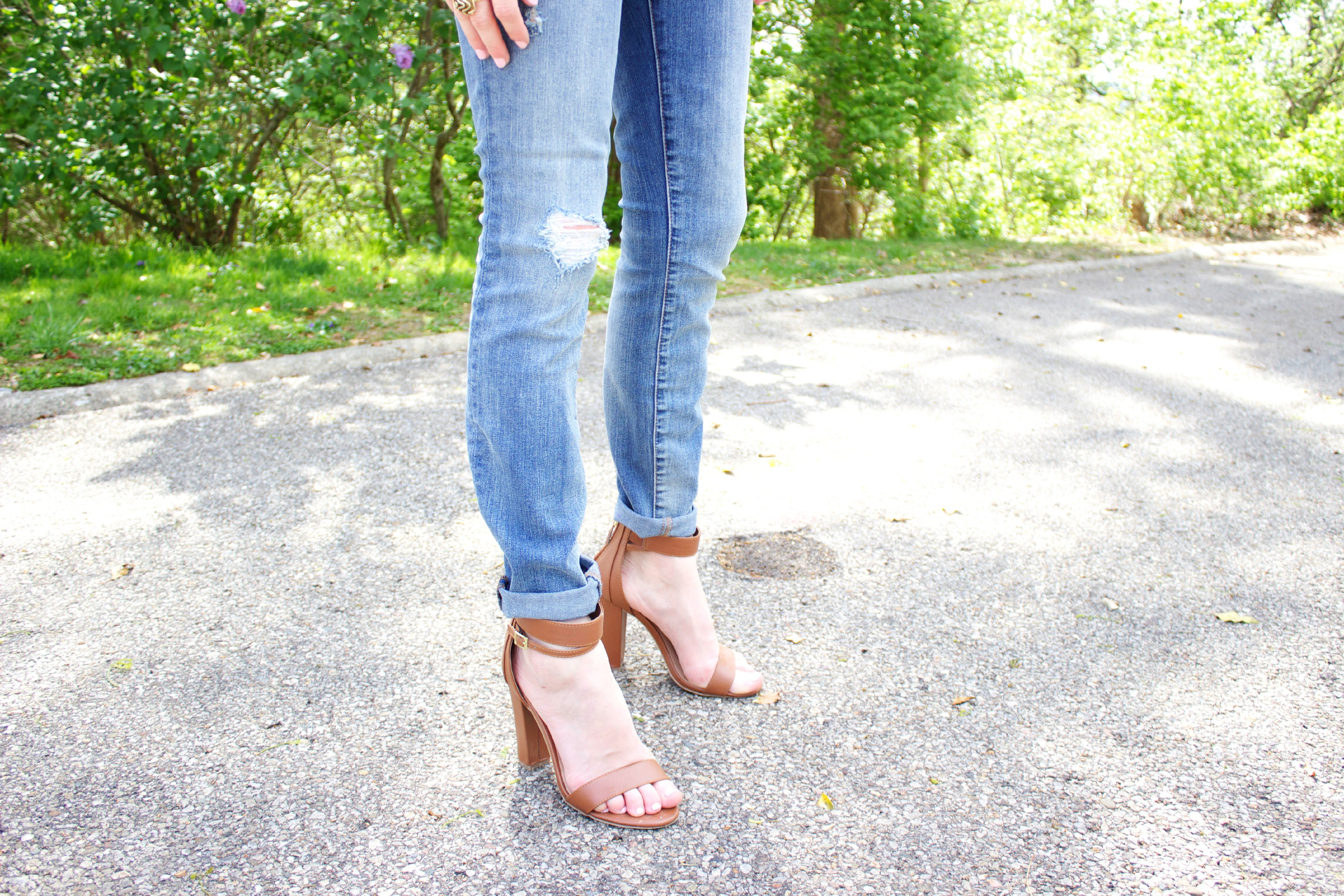 Bamboo Lulu's Brown Ankle Strap Sandals