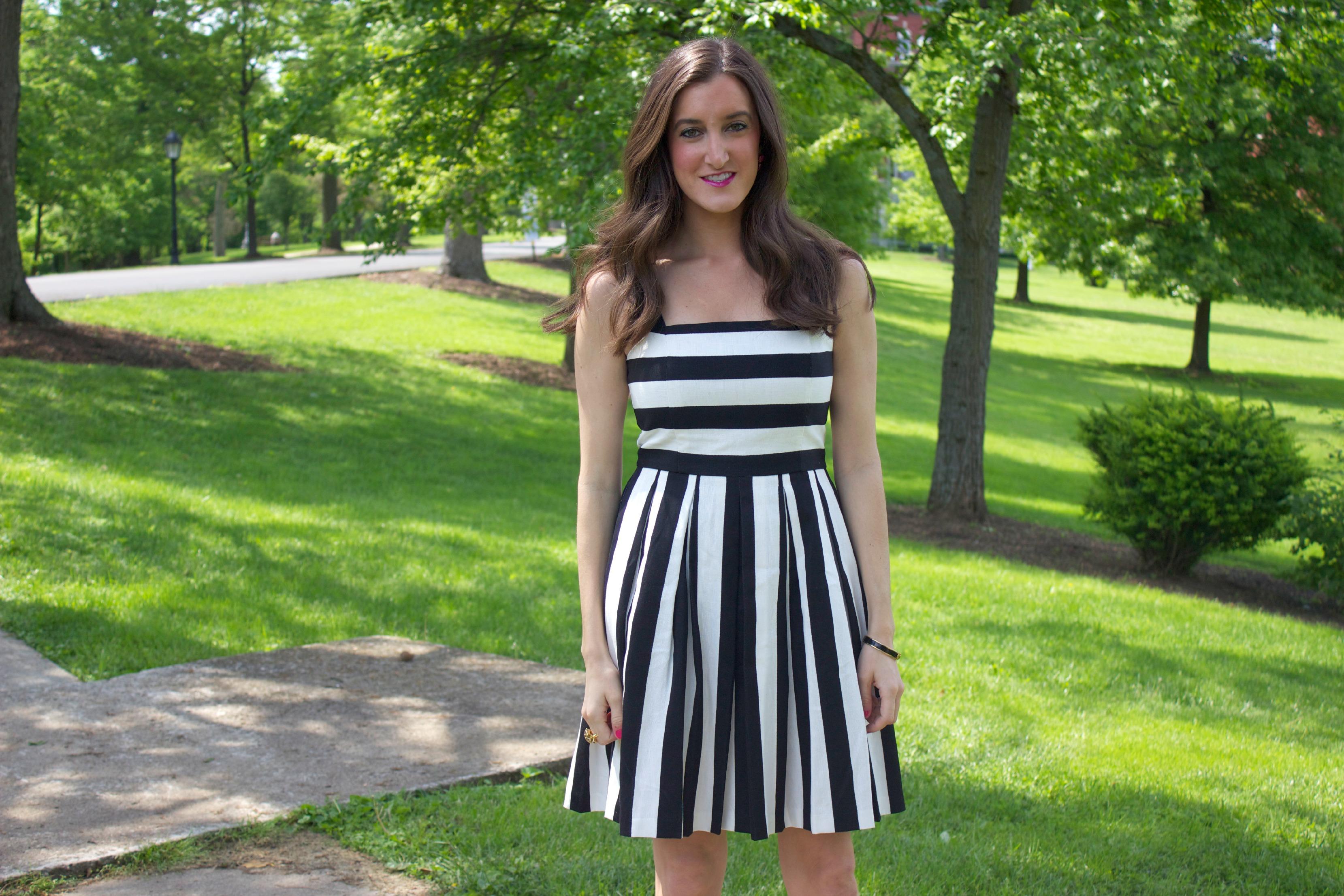 6377f749f3 Ann Taylor Loft Stripe Pleated Cotton Linen Dress