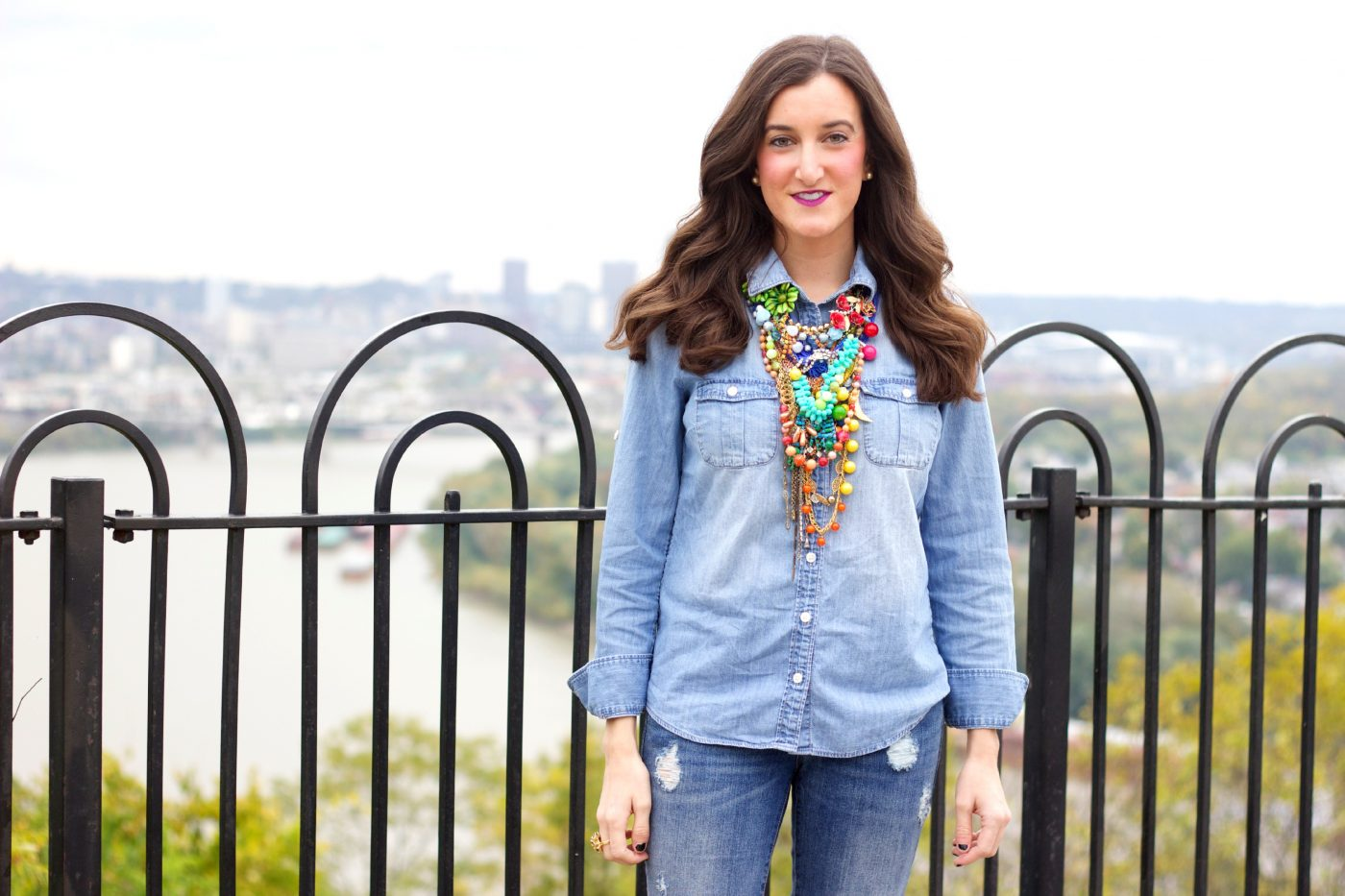How To Wear A Chambray Shirt with Jeans