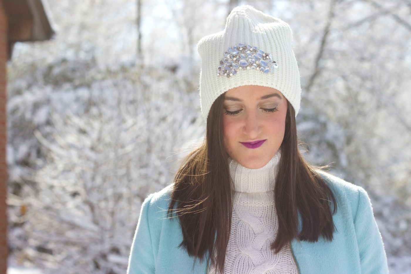 Ann Taylor Embellished Knit Hat