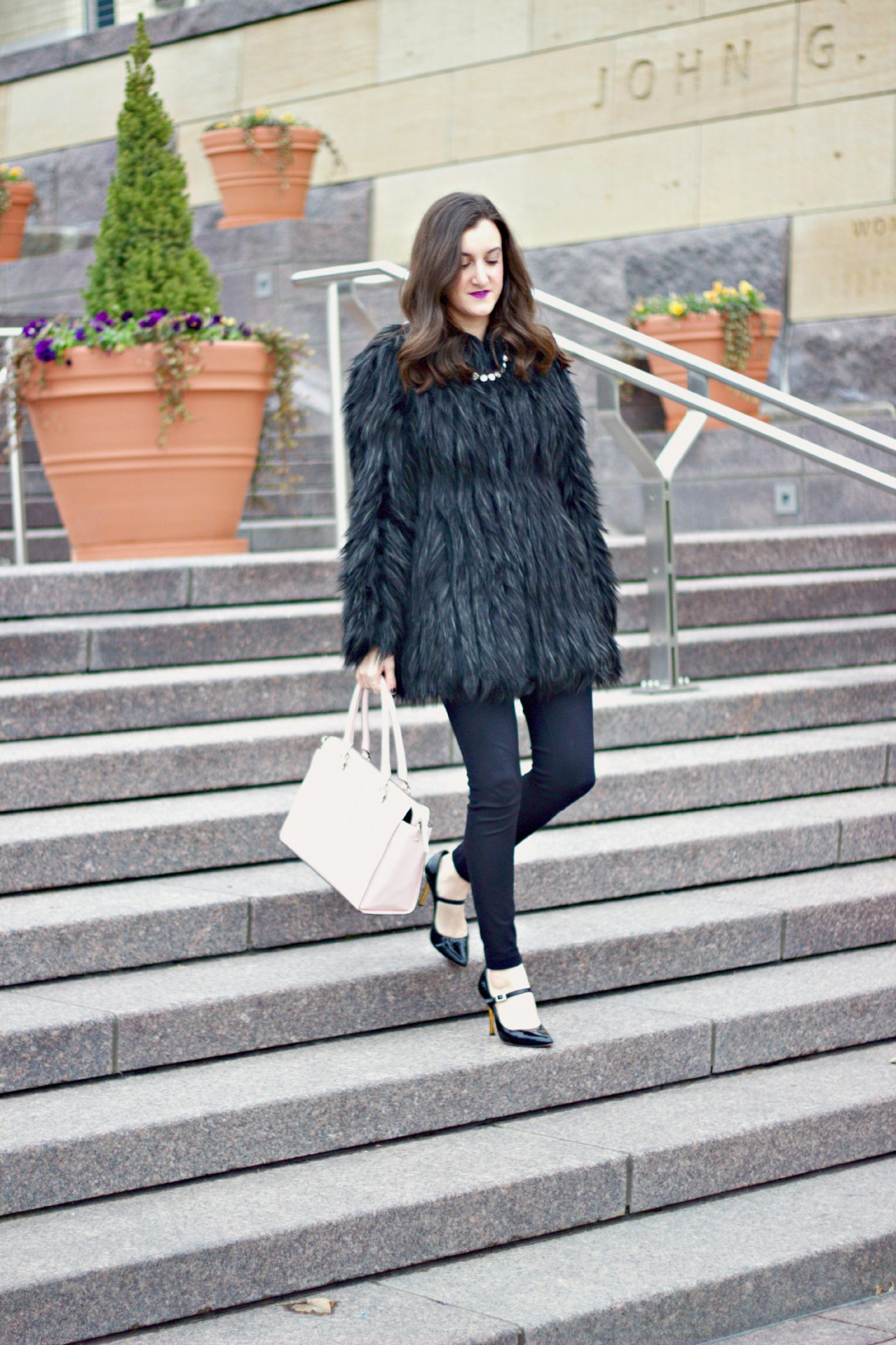 Faux Fur and Blush