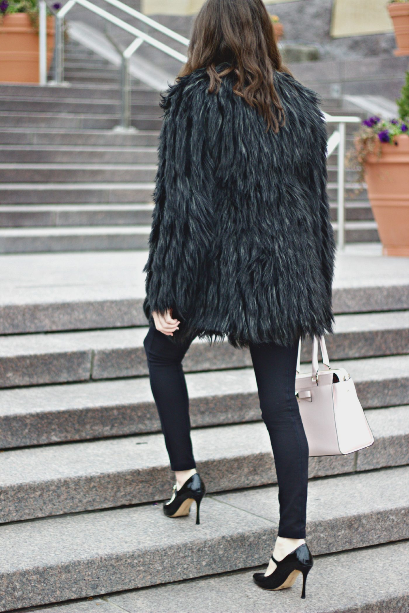 J.Crew Pixie Pants Faux Fur Coat