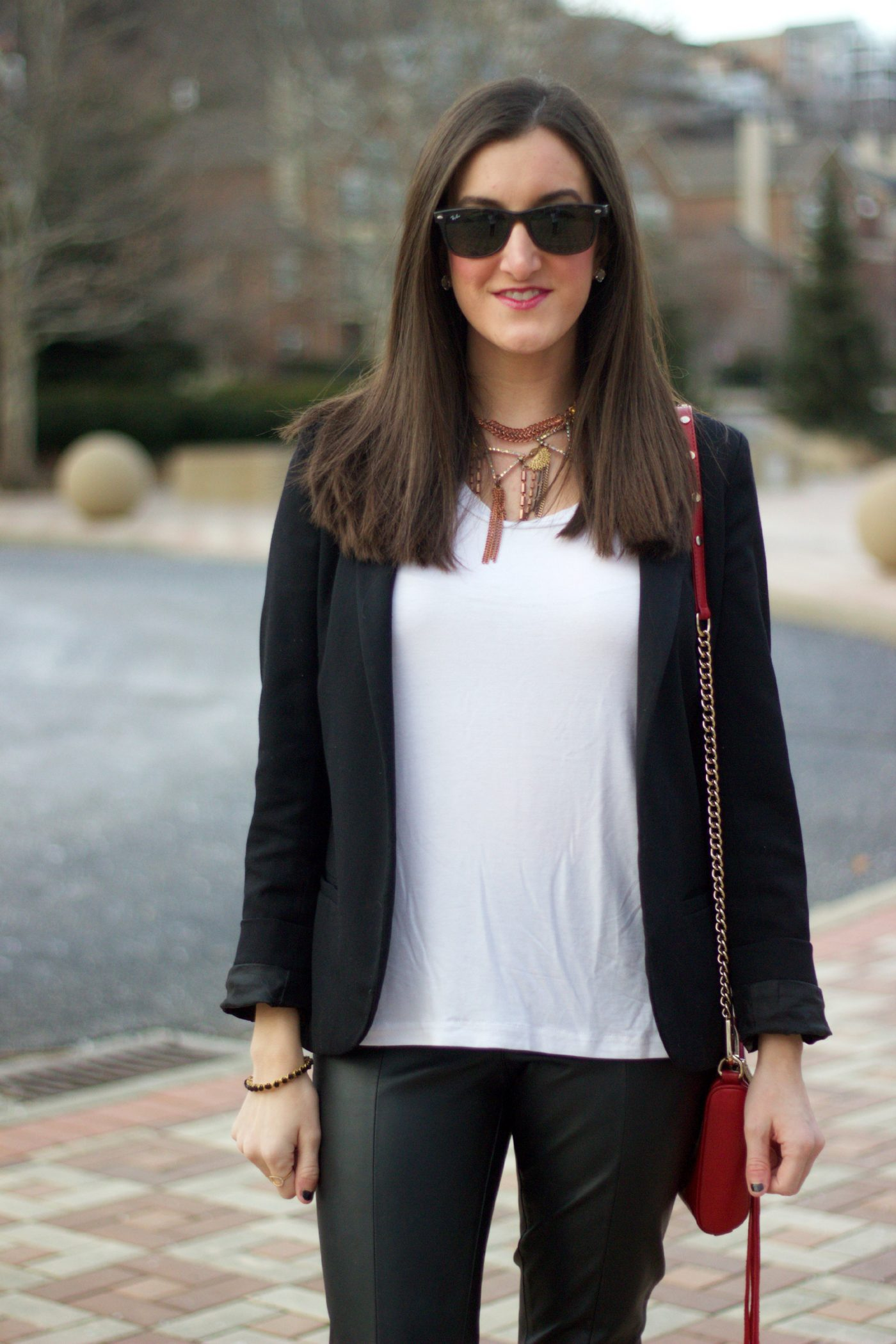 Casual Shirt and Black Blazer