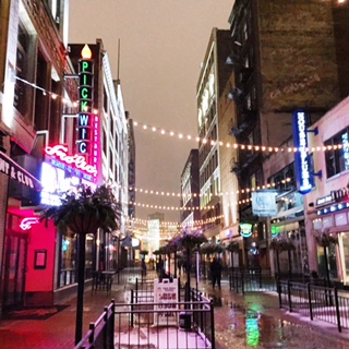 Snowy City Lights