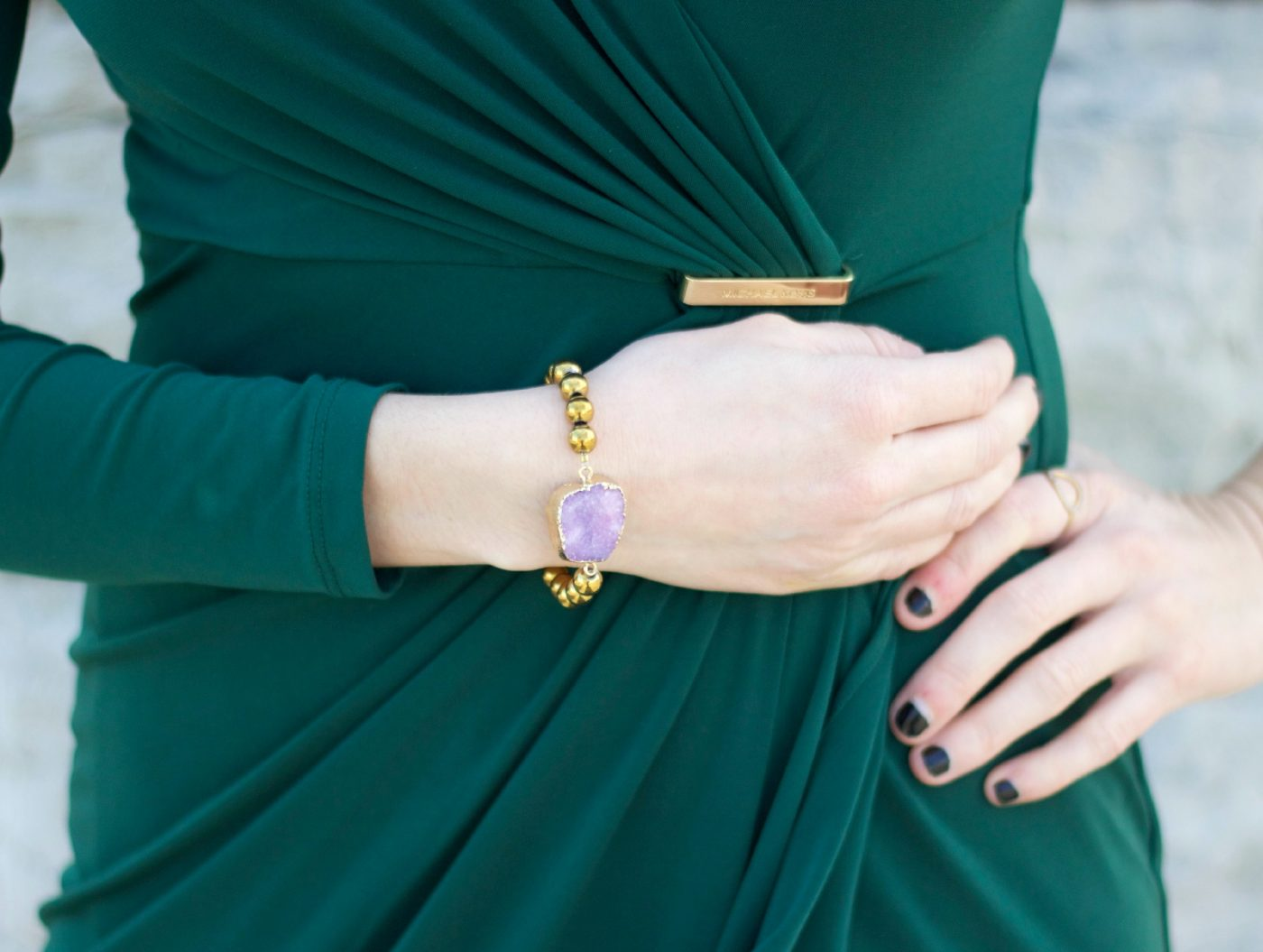 funky artsy druzy agate bracelet