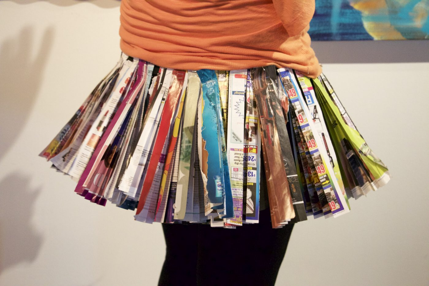 Newspaper Pleated Skirt