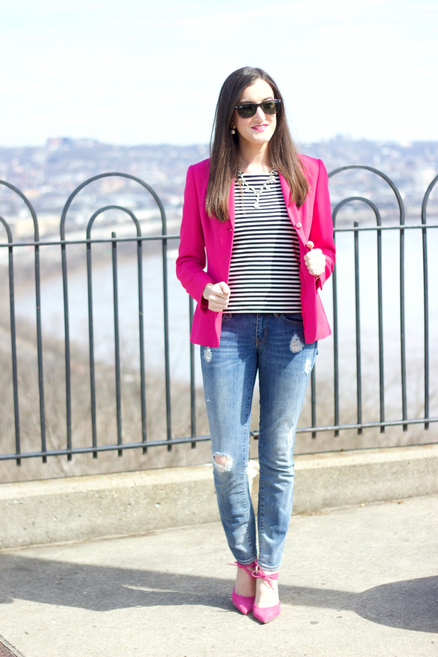 Pink Heels with Pink Blazer