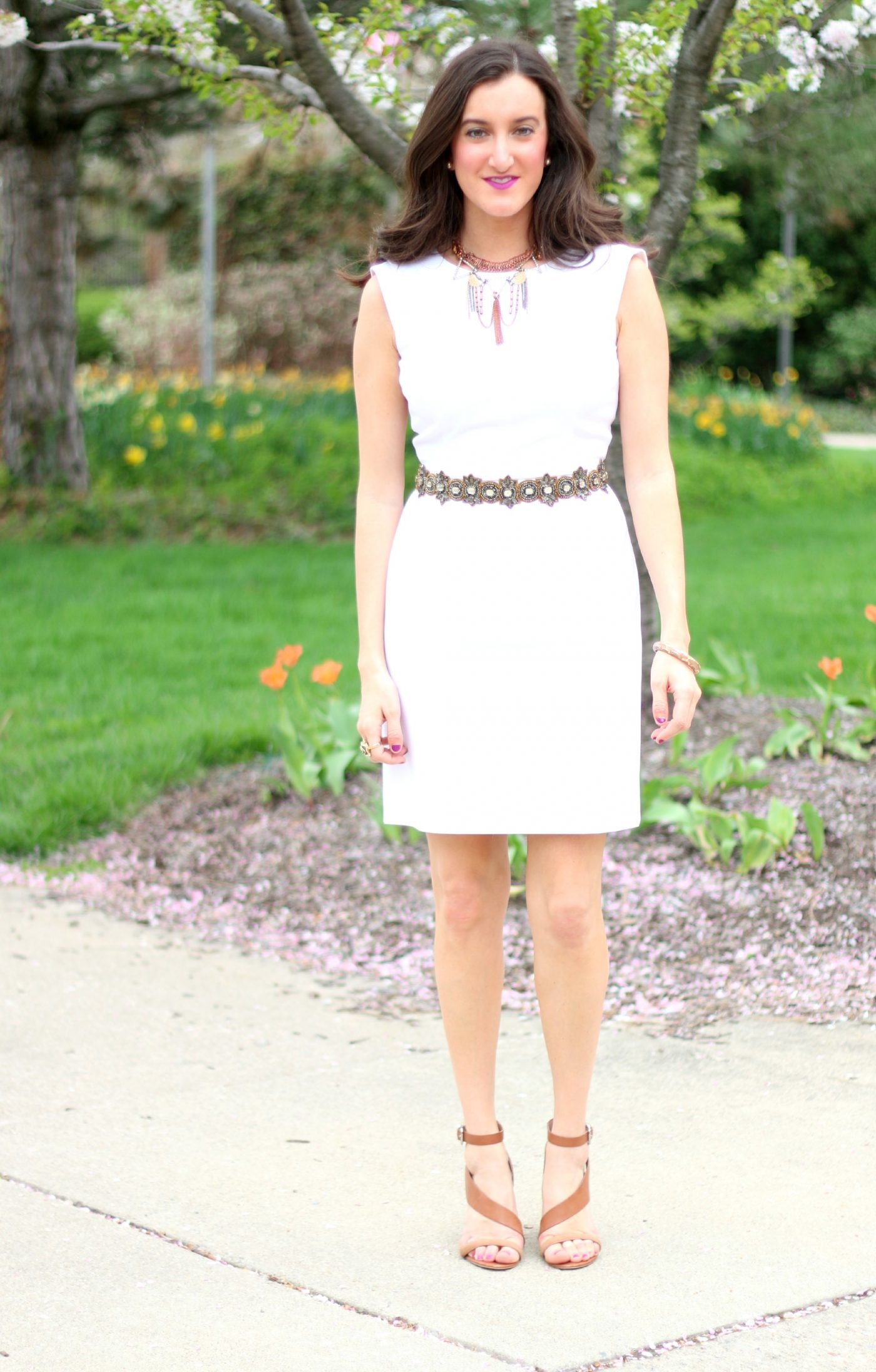 Accessorizing a White Dress