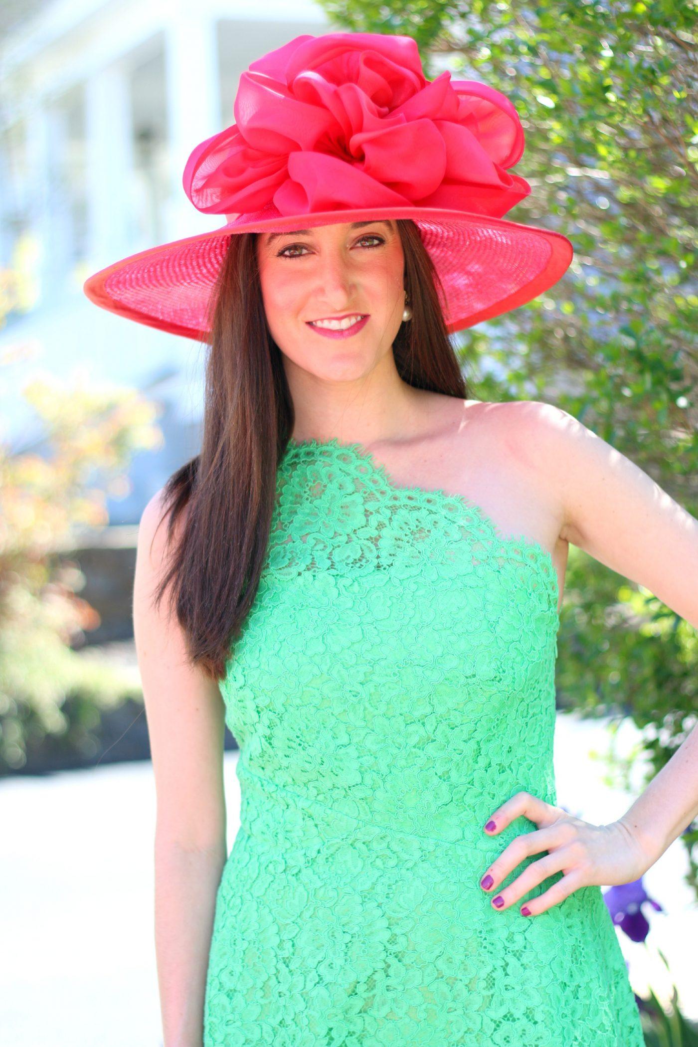 Pink Derby Hat Shoshanna Dress