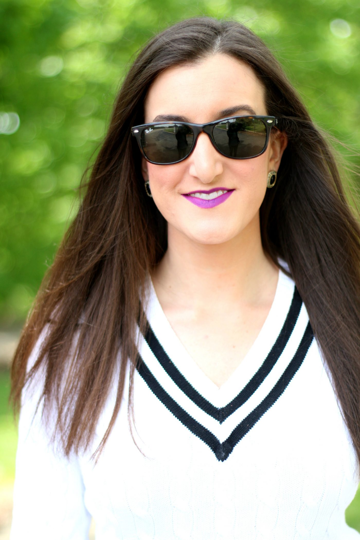 Black and White Cable Knit Sweater