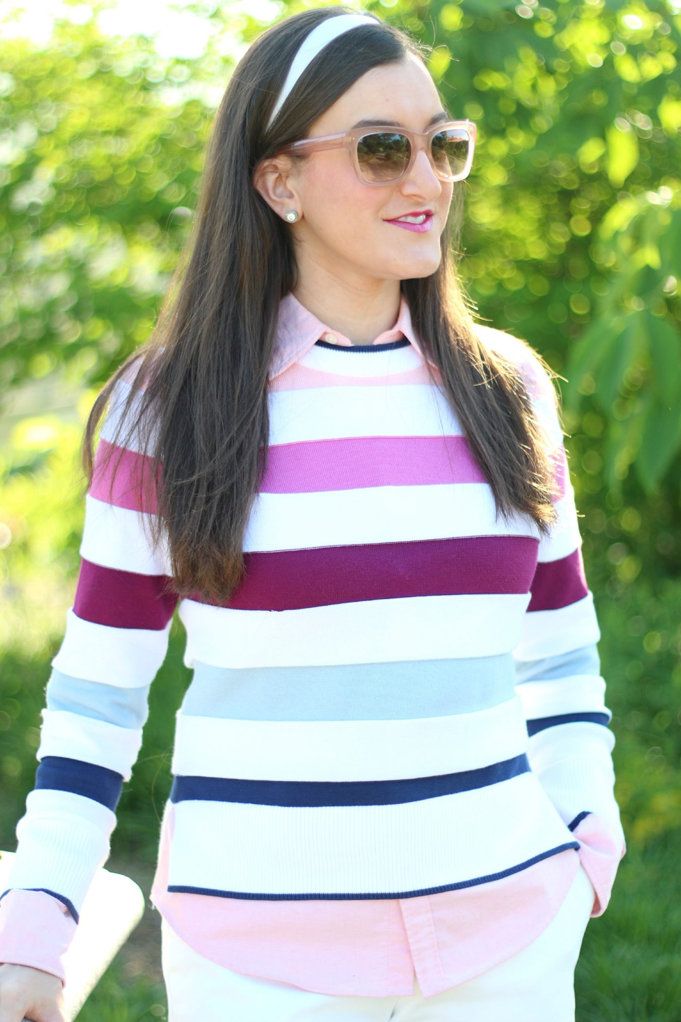 Brooks Brothers Womens Striped Sweater