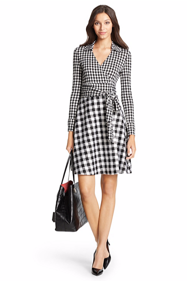 DVF Amelianna Silk Gingham Dress