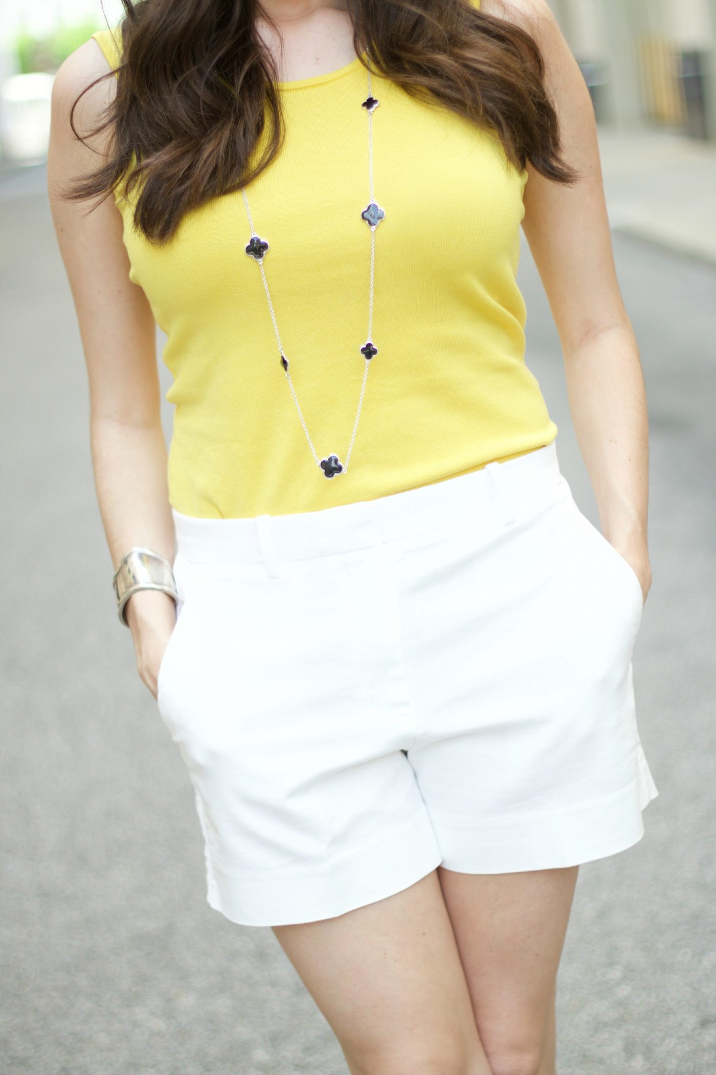 Gap Tailored Shorts with Yellow Top