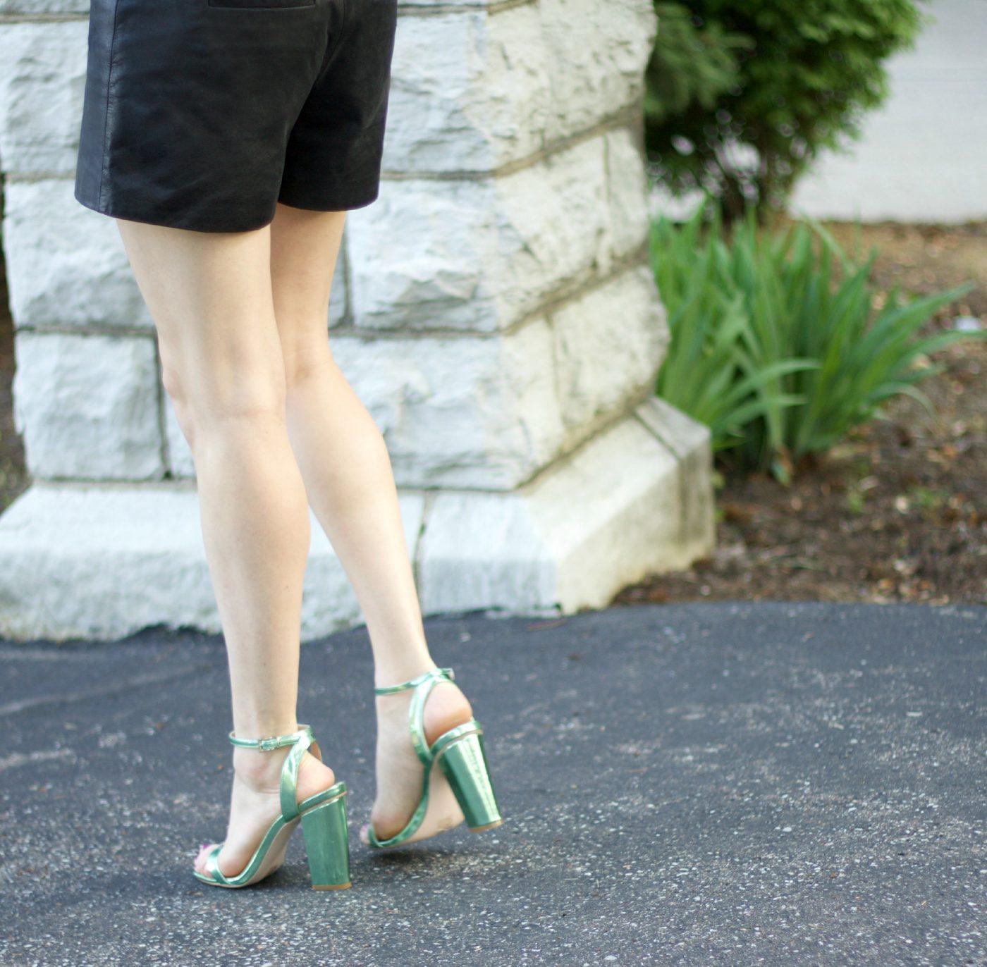 Asos Metallic Green Heels