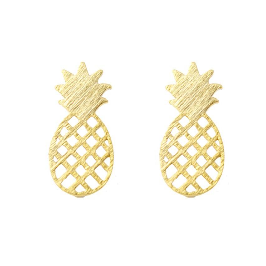 Pineapple Gold Earrings
