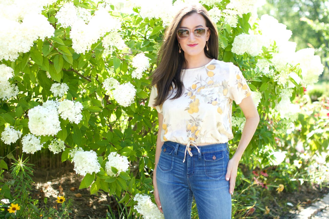 Crop Top and Denim Summer Outfit
