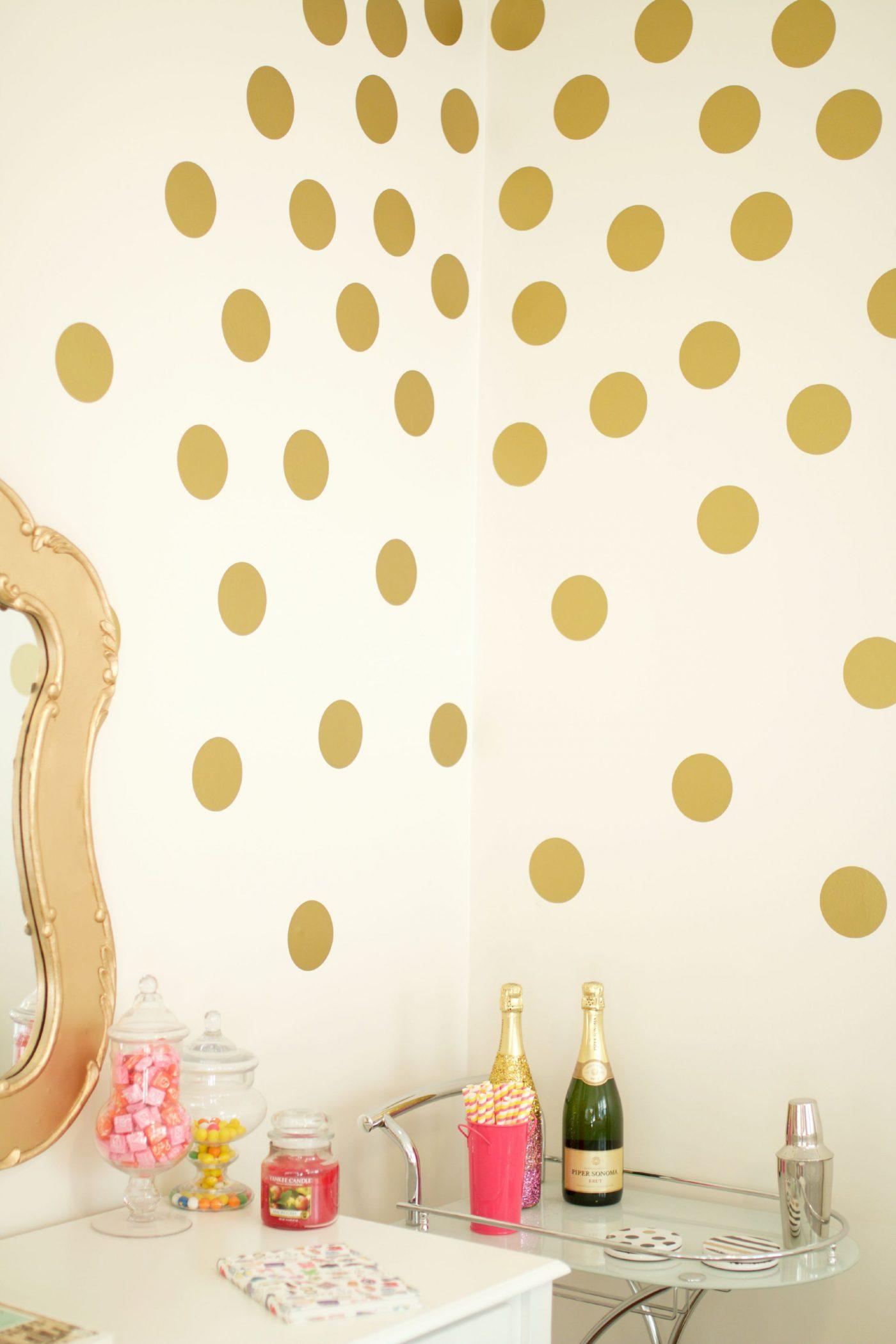 Urbanwalls Gold Polka Dot Wall Decals