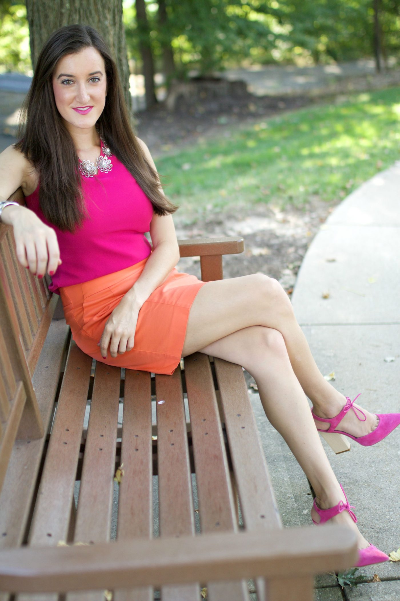 Pink and Orange Outfit Ideas