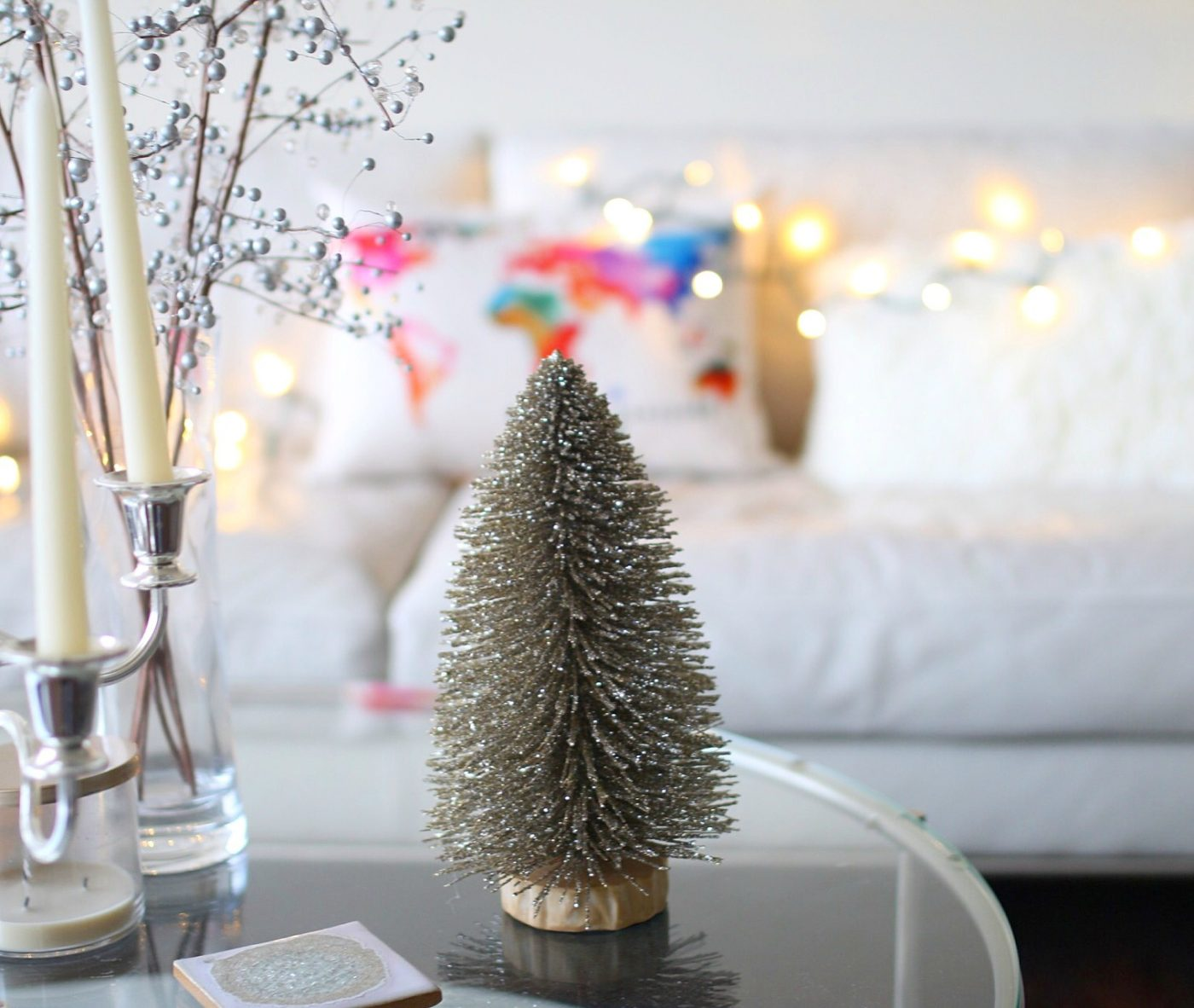 Gold Glitter Tabletop Christmas Tree