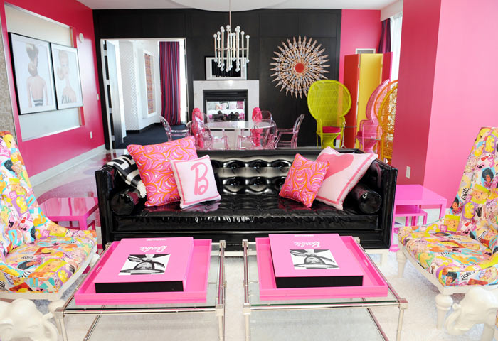 hot pink suite palms hotel