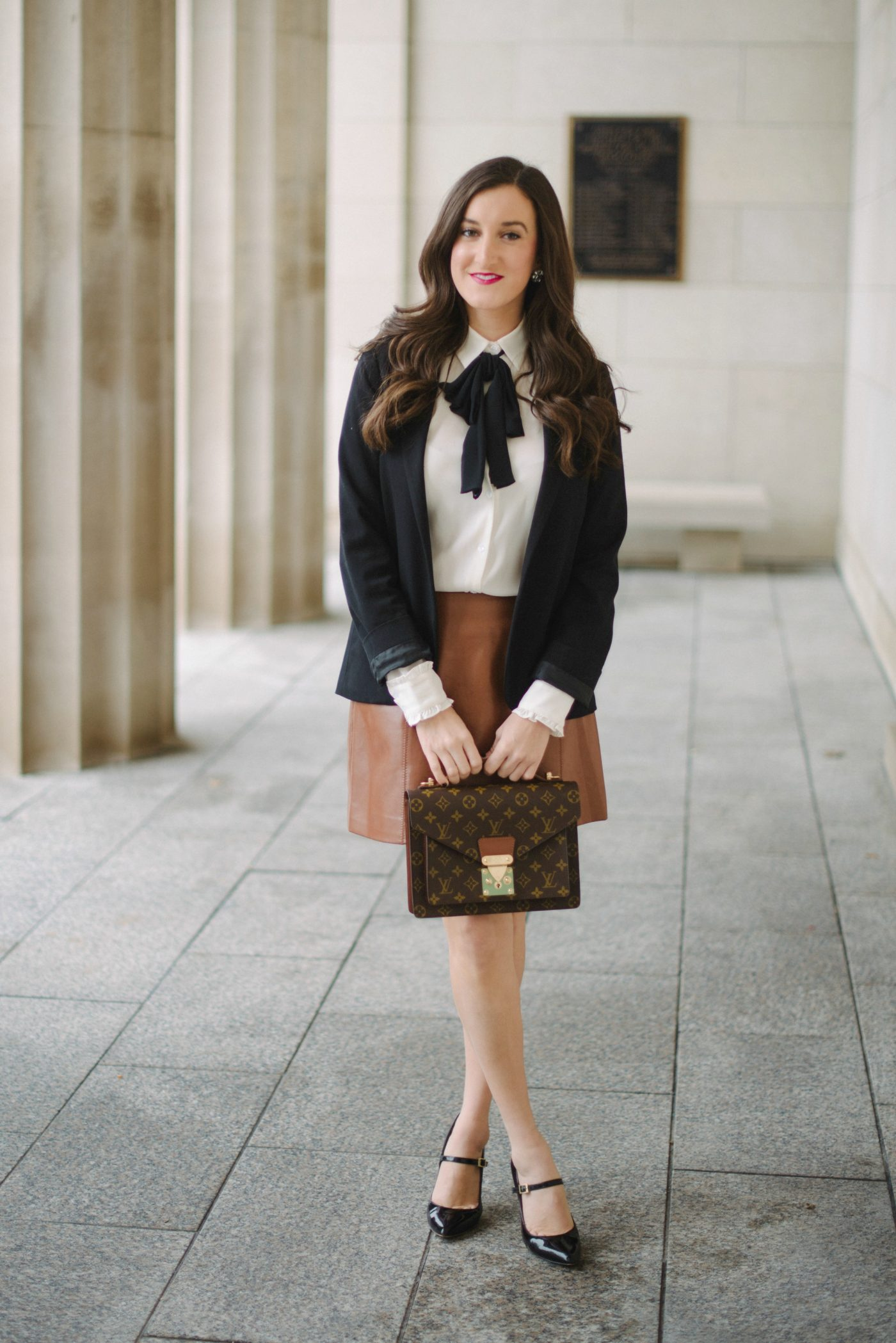 bow blouse outfit