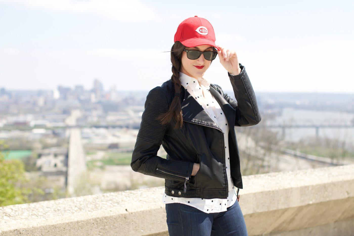 Moto Jacket with Baseball Cap