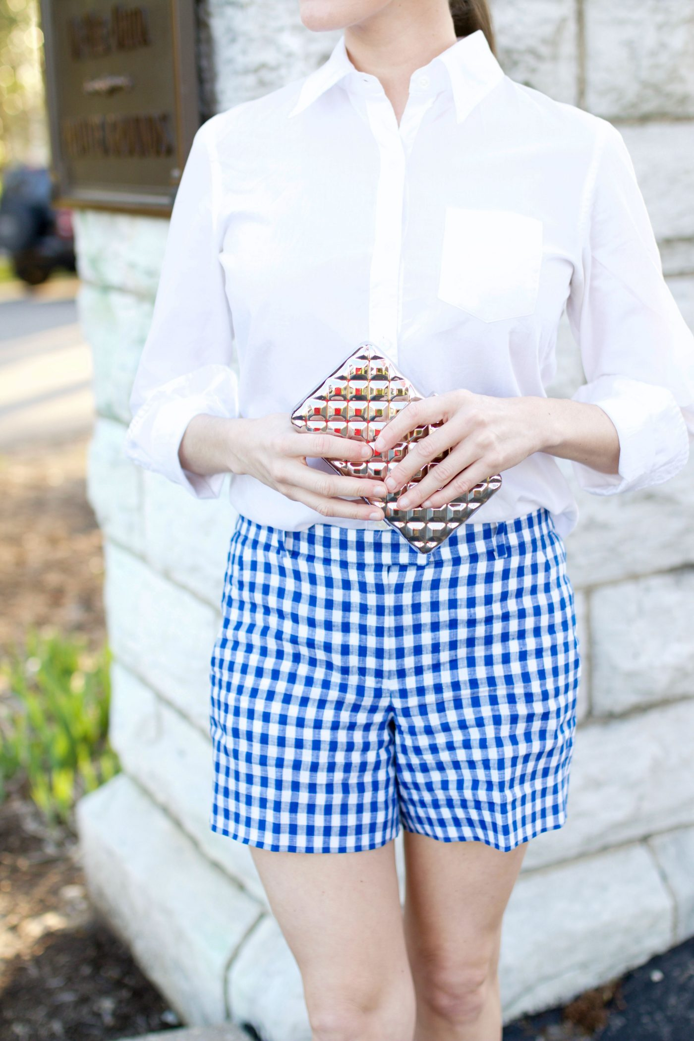 Gingham Shorts Outfit