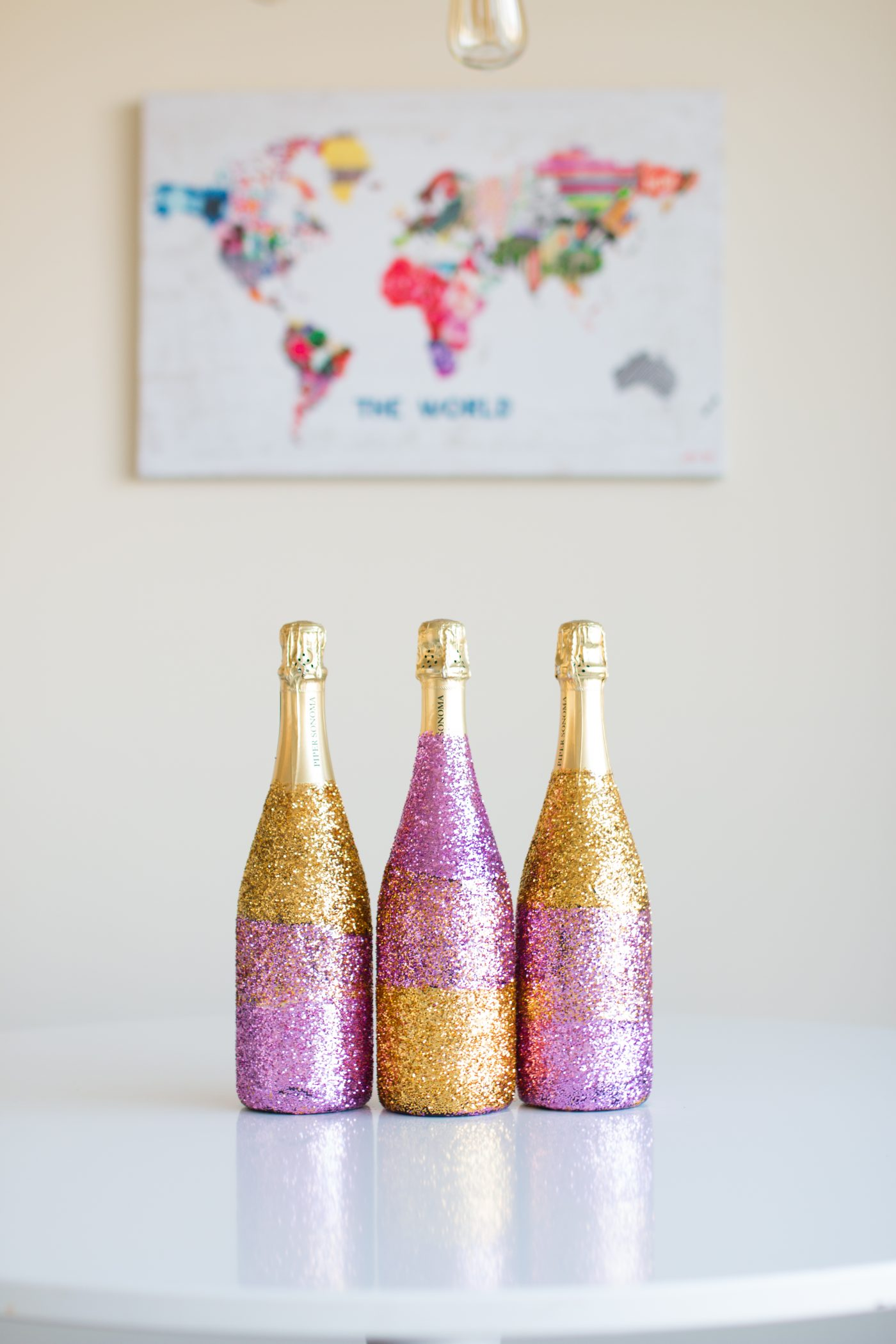 Glitter Champagne Bottle DIY