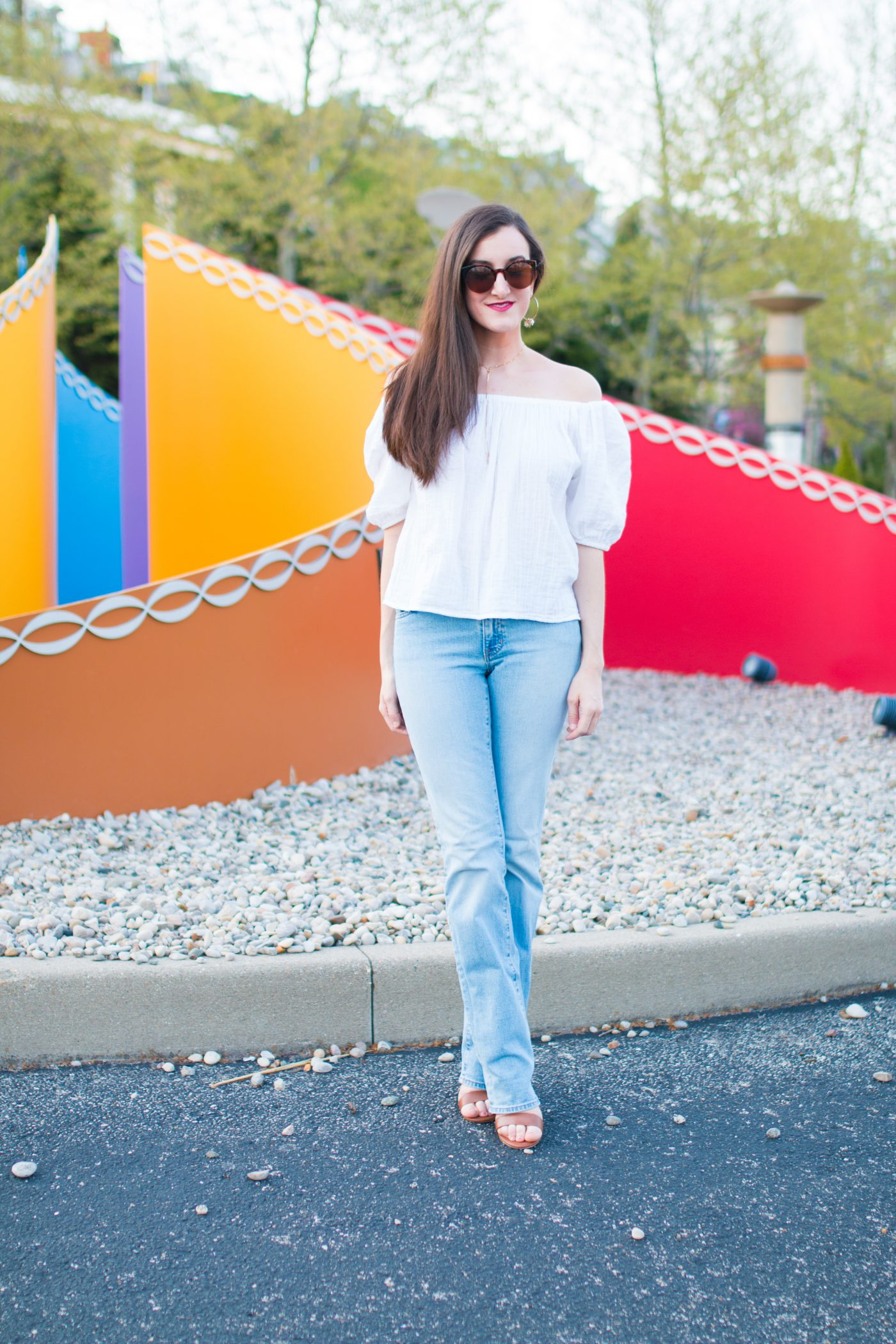 Jeans with Off The Shoulder Top