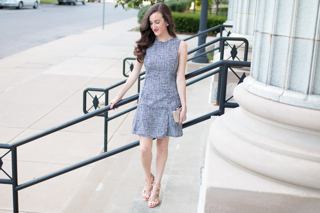 Banana Republic Tweed Fit And Flare Dress Baubles To Bubbles