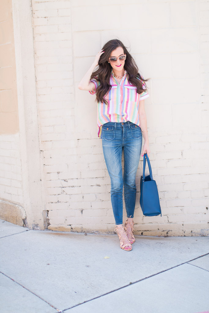 Candy Striped Shirt JCrew